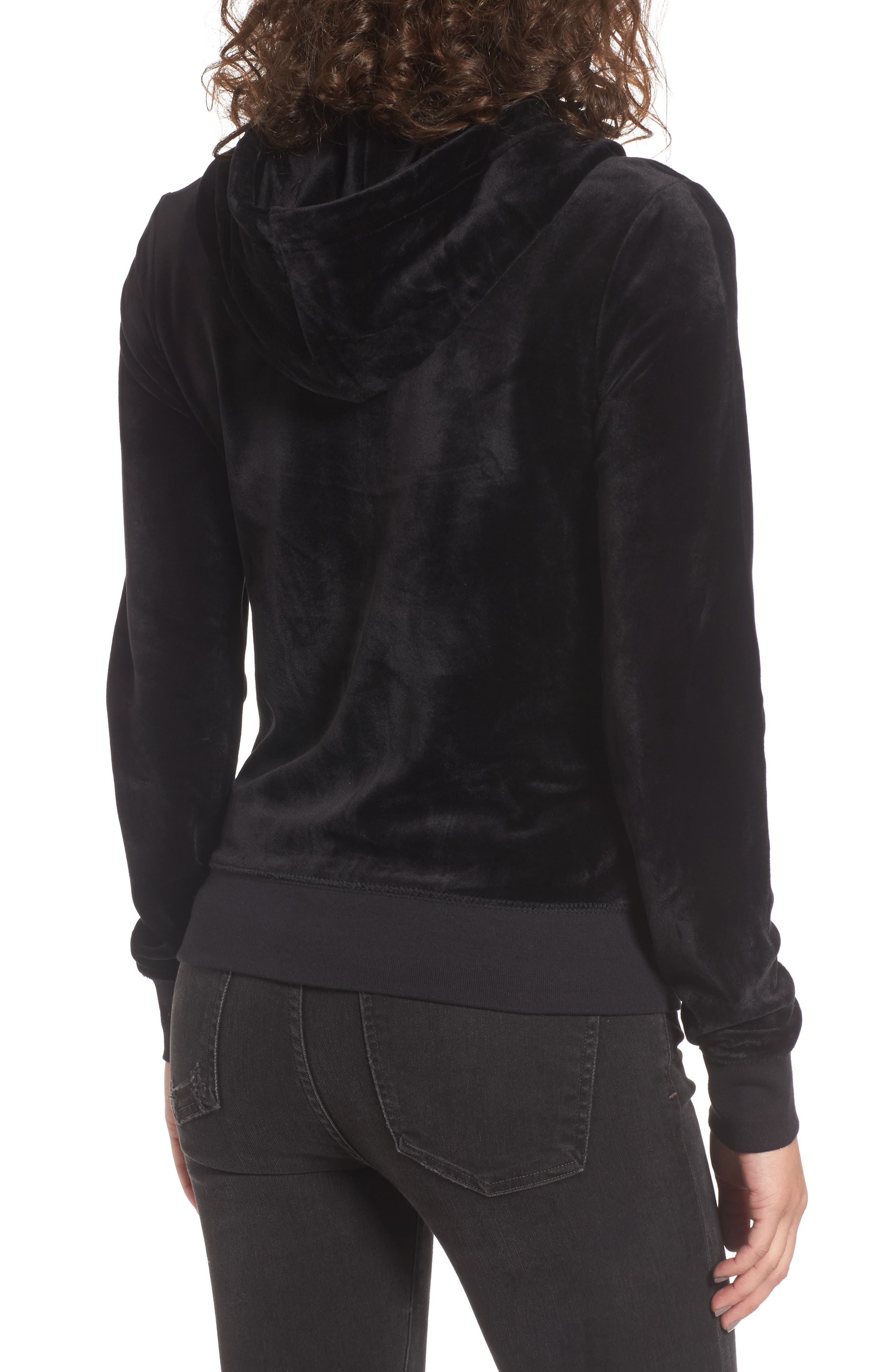 Robertson Ultra Luxe Velour Zip Hoodie,                             Alternate thumbnail 2, color,                             009