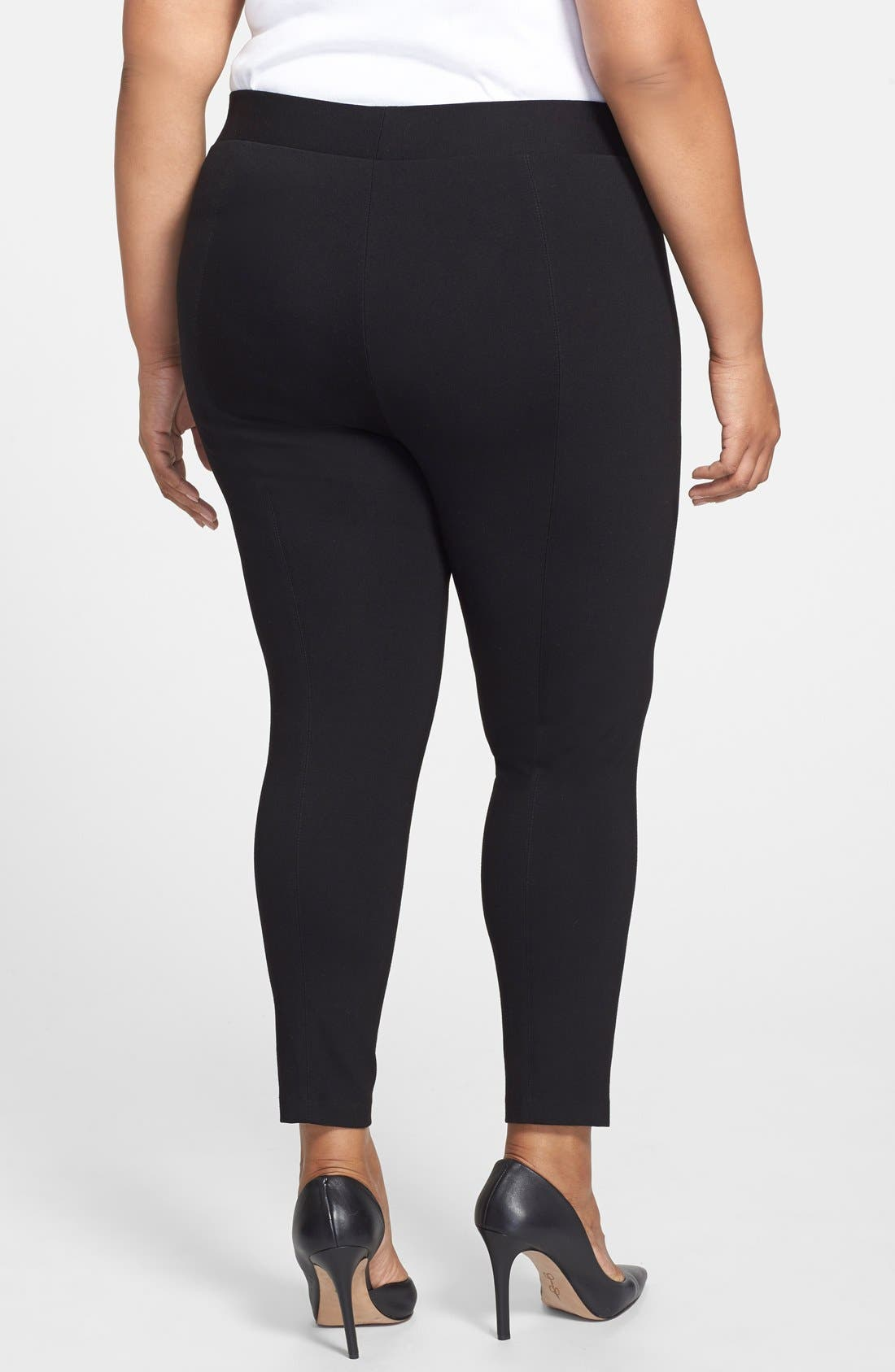 Leggings,                             Alternate thumbnail 4, color,                             RICH BLACK