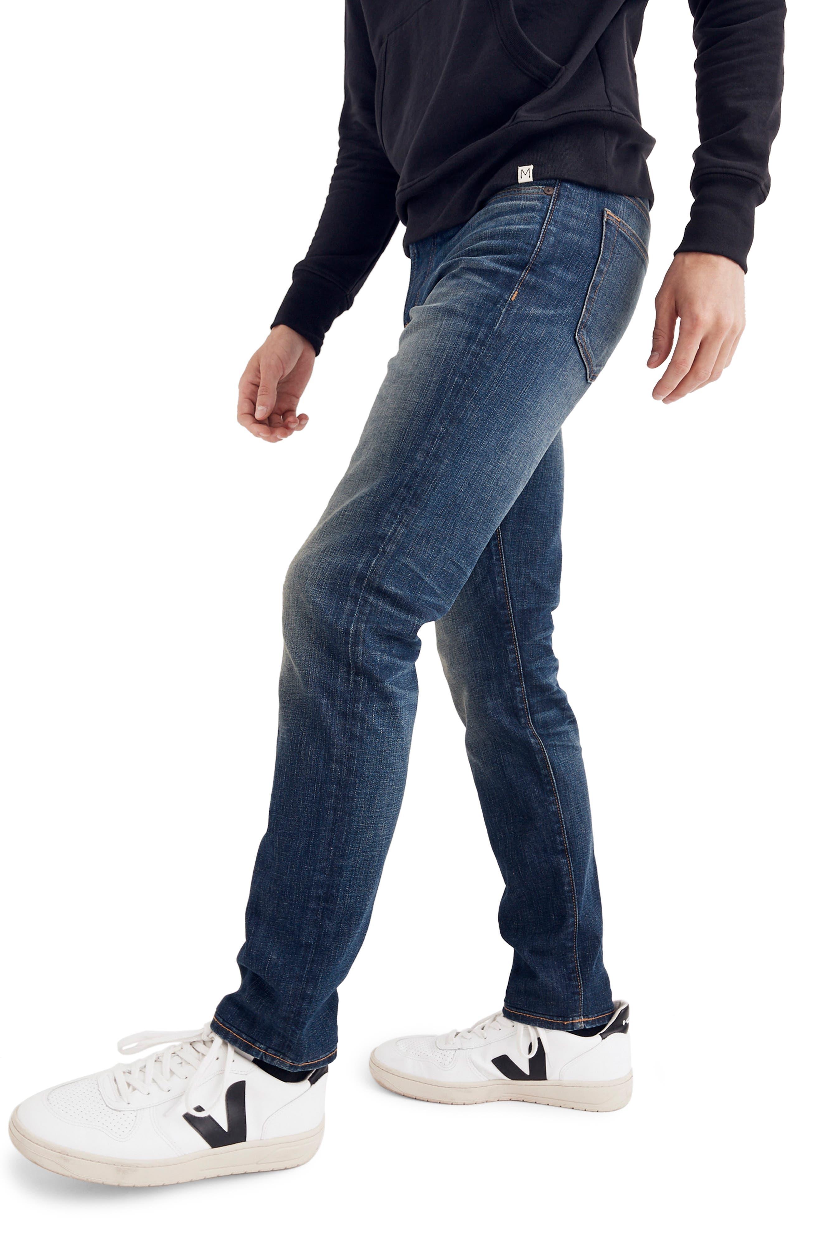 Slim Fit Jeans,                             Alternate thumbnail 3, color,                             DARK TINTED