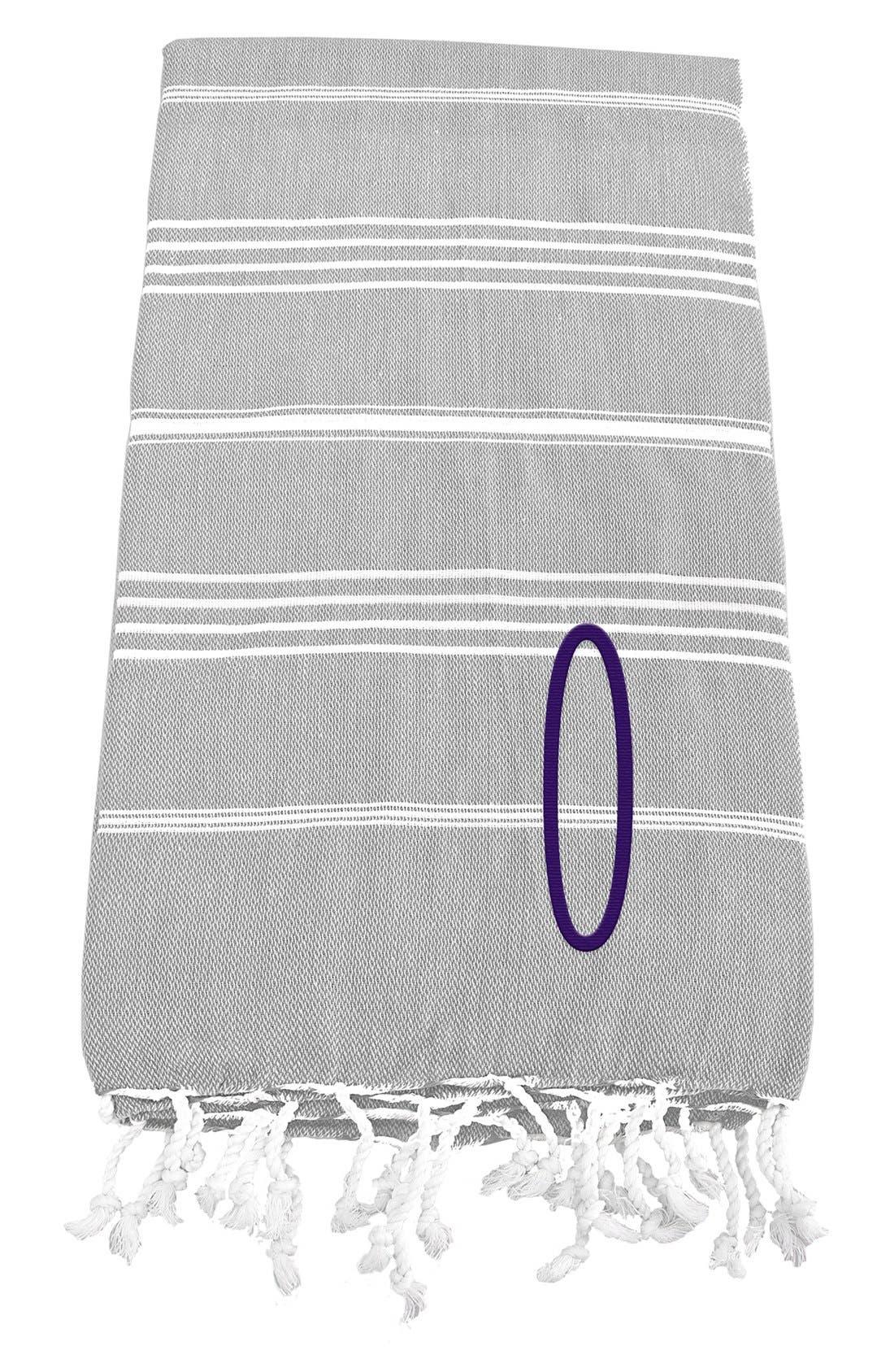 Monogram Turkish Cotton Towel,                             Main thumbnail 17, color,