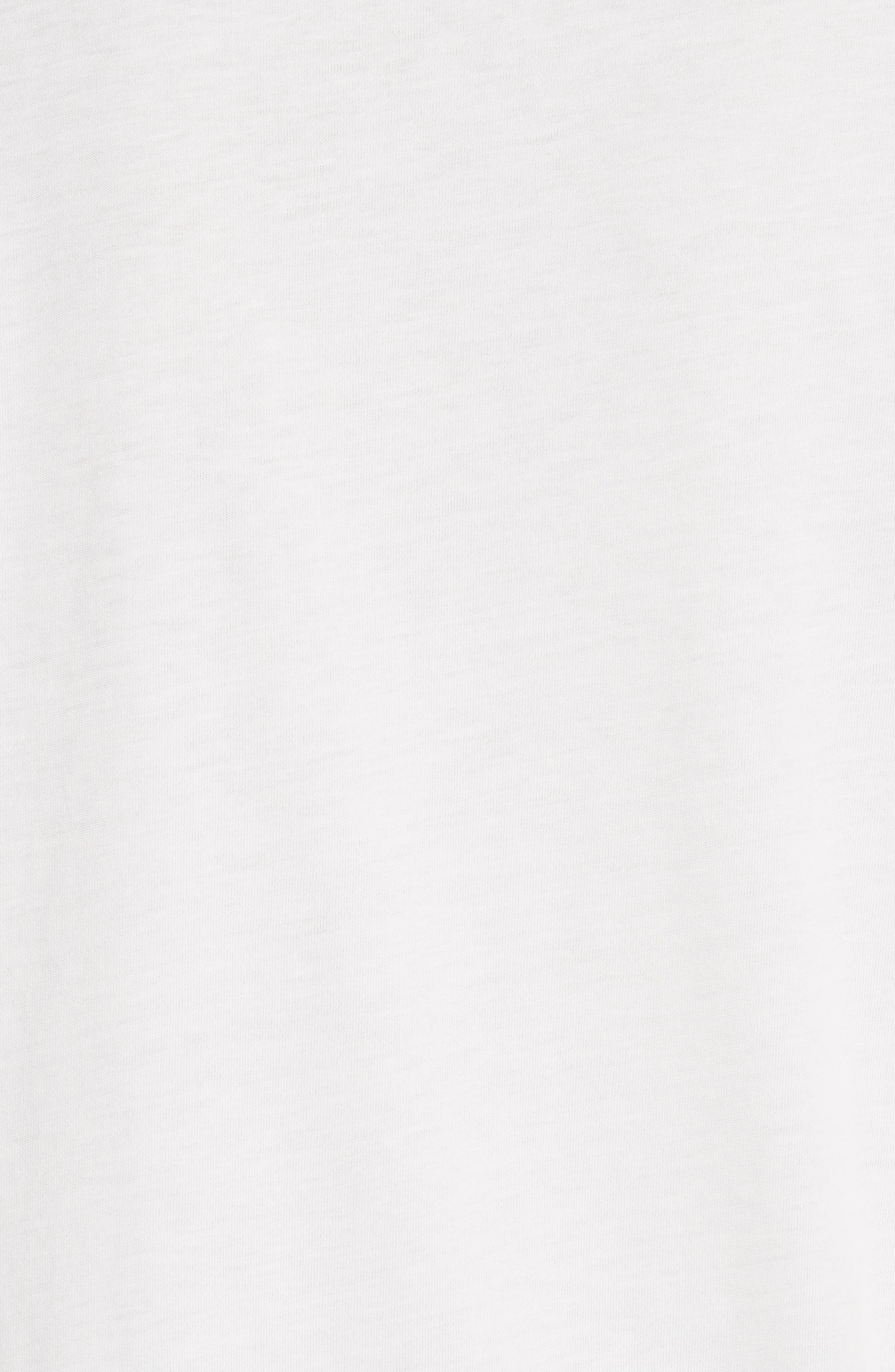 SANDRO,                             Embroidery Cotton Blend Tee,                             Alternate thumbnail 5, color,                             100