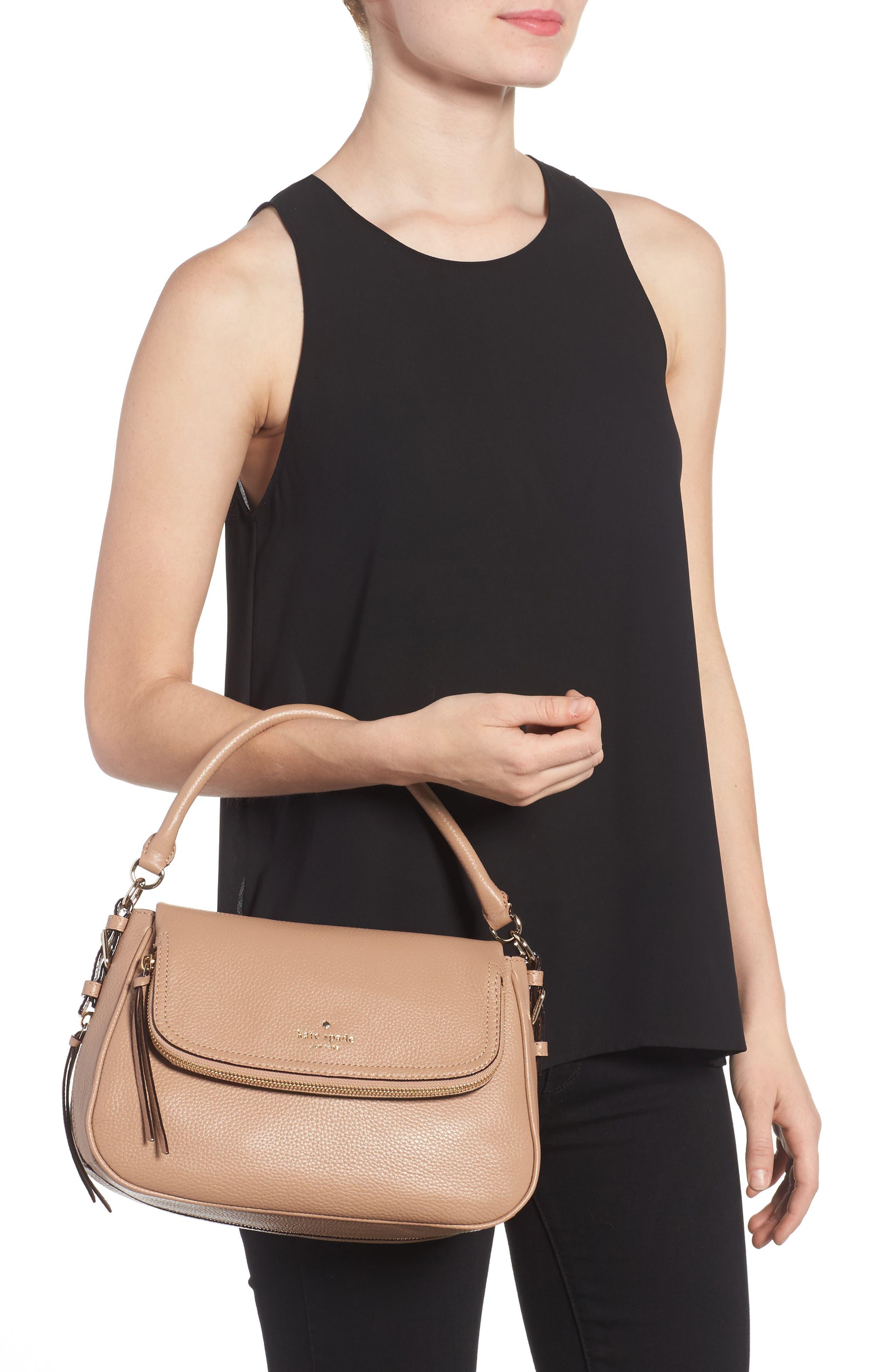 cobble hill - deva leather crossbody bag,                             Alternate thumbnail 10, color,
