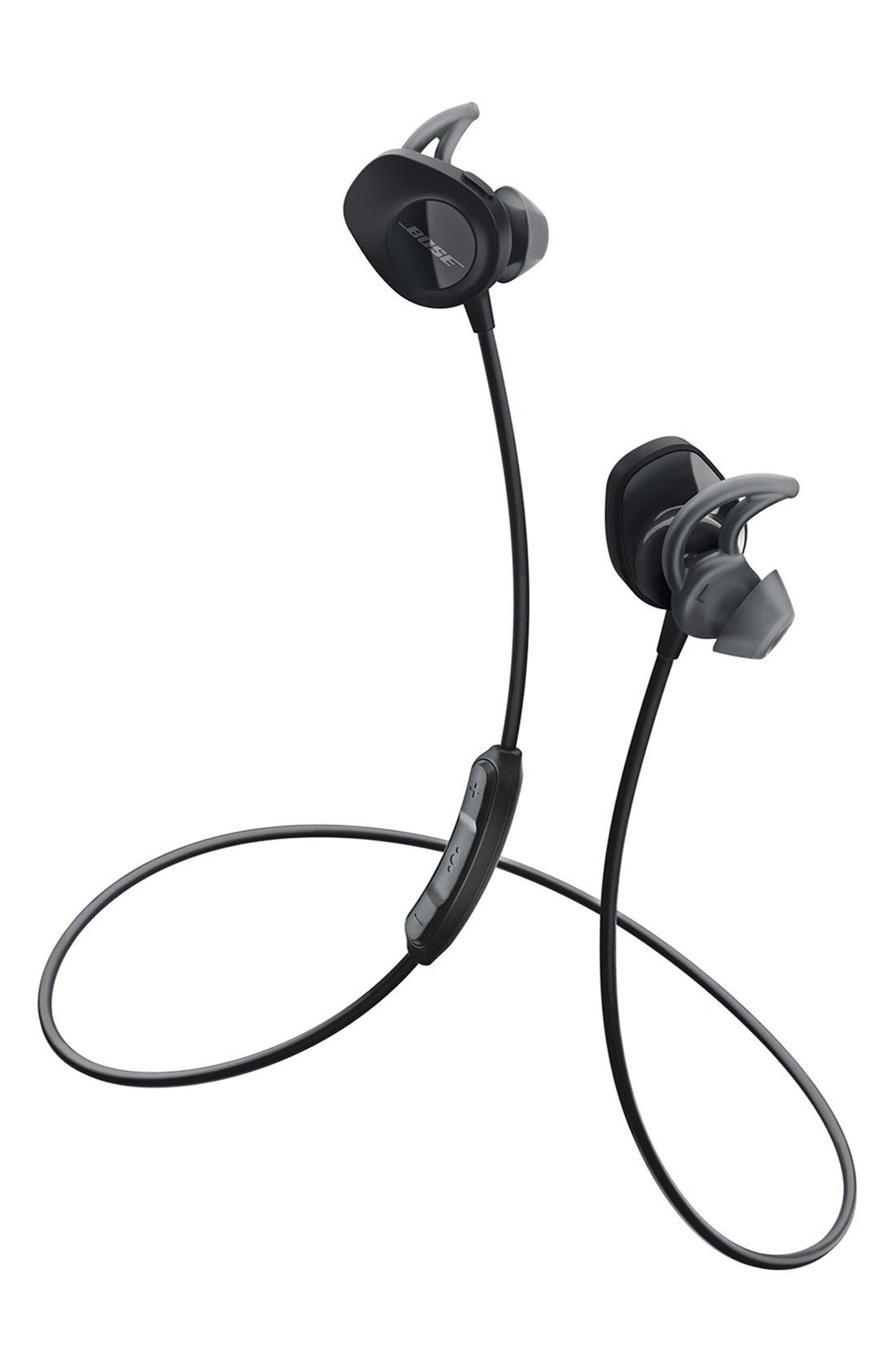 SoundSport<sup>®</sup> Wireless Headphones,                             Main thumbnail 1, color,                             BLACK