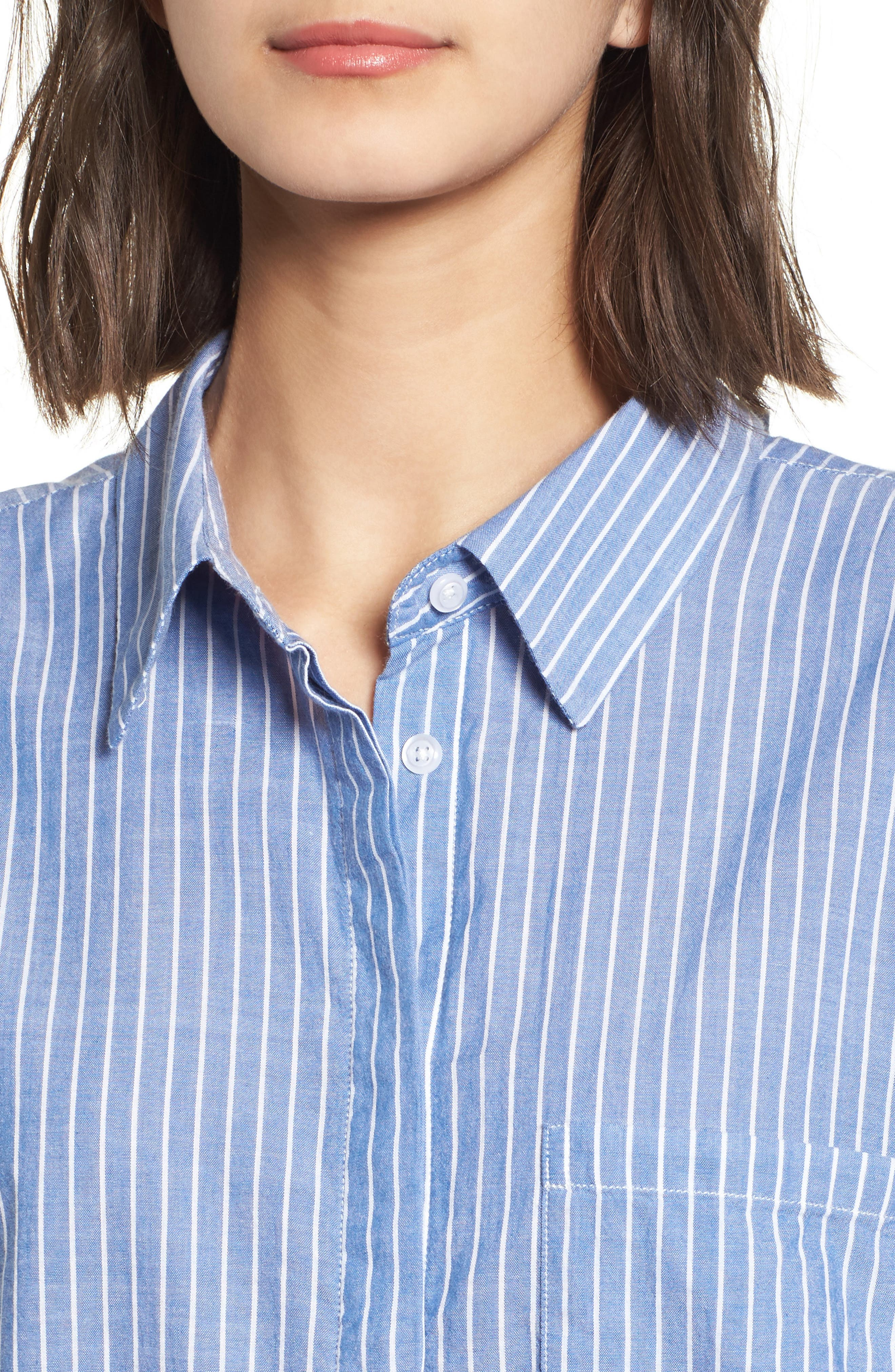 Mimi Stripe Shirt,                             Alternate thumbnail 4, color,                             494