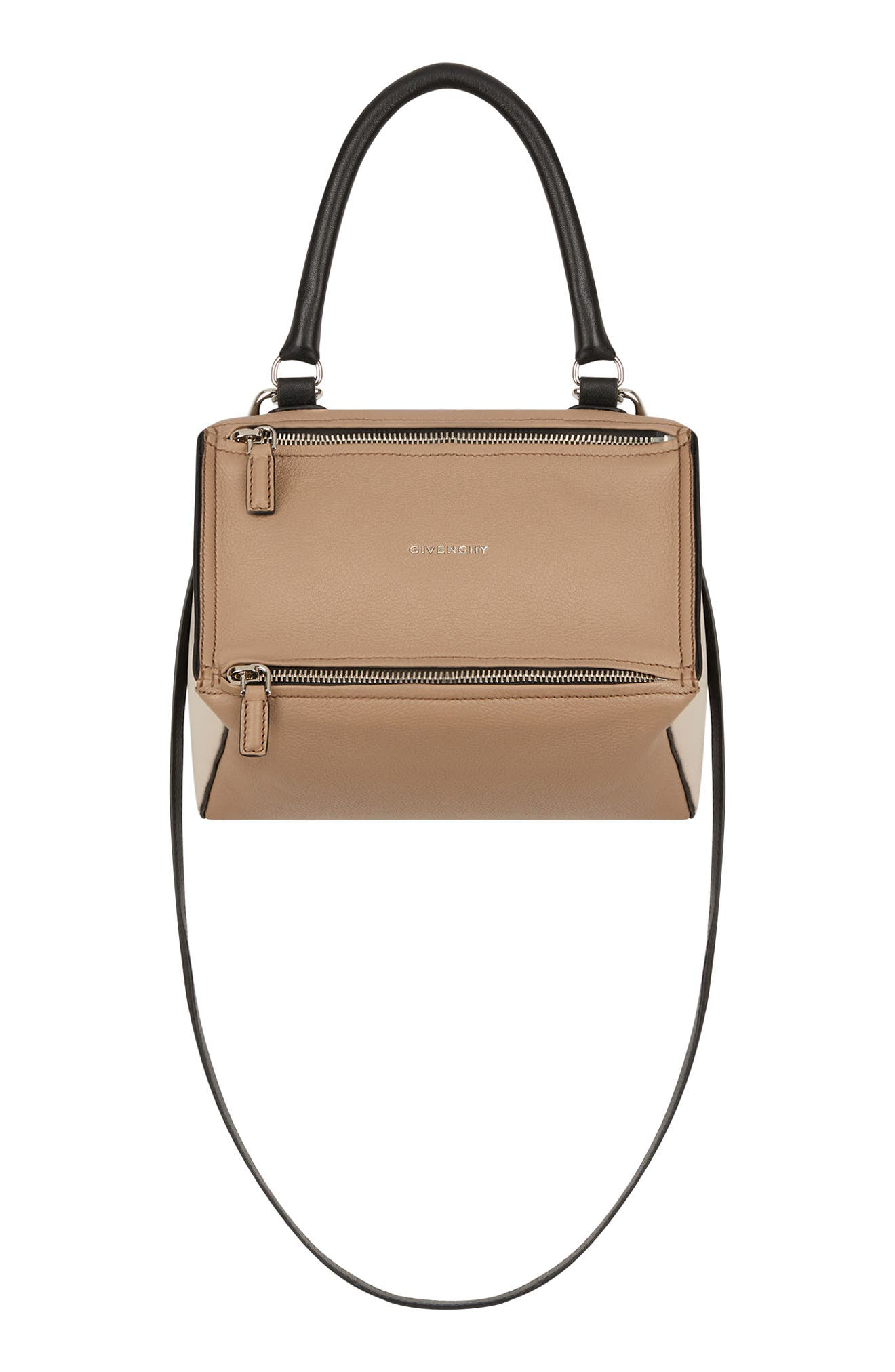 Small Pandora Box Tricolor Leather Crossbody Bag, Main, color, 250