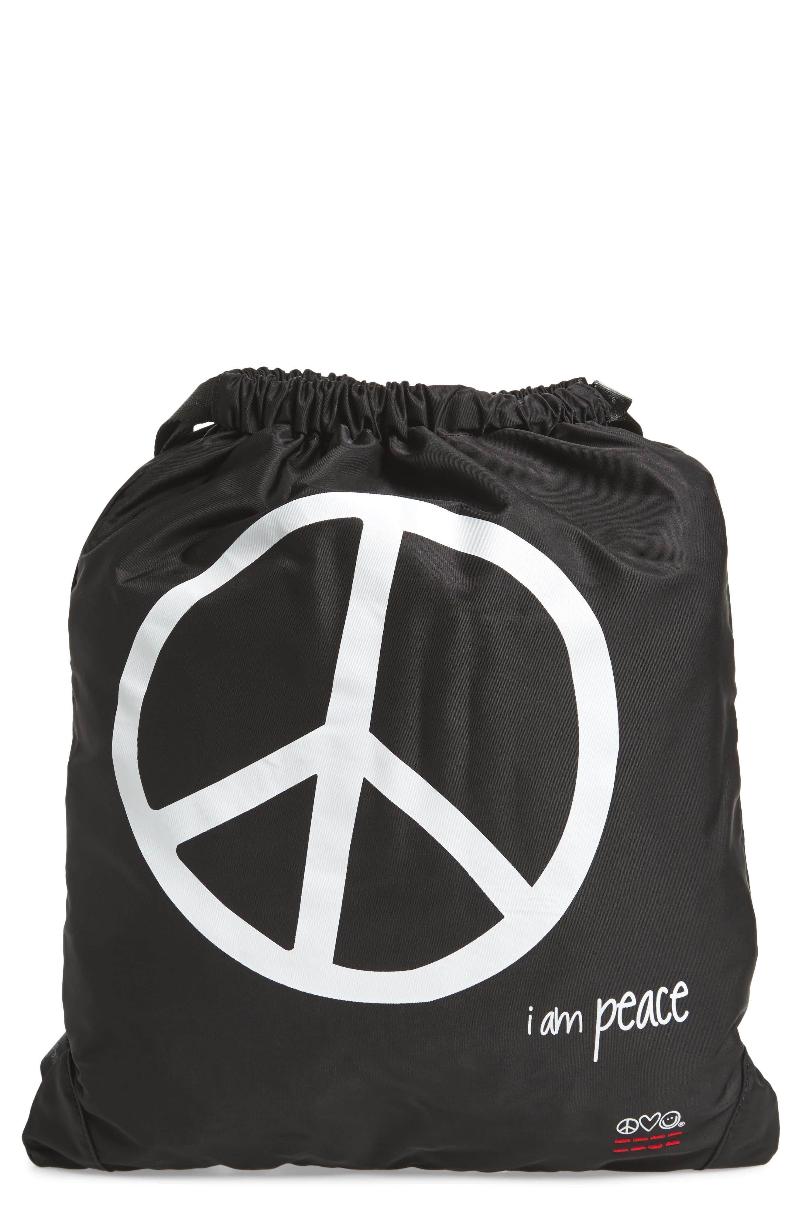 Drawstring Nylon Backpack,                             Main thumbnail 3, color,