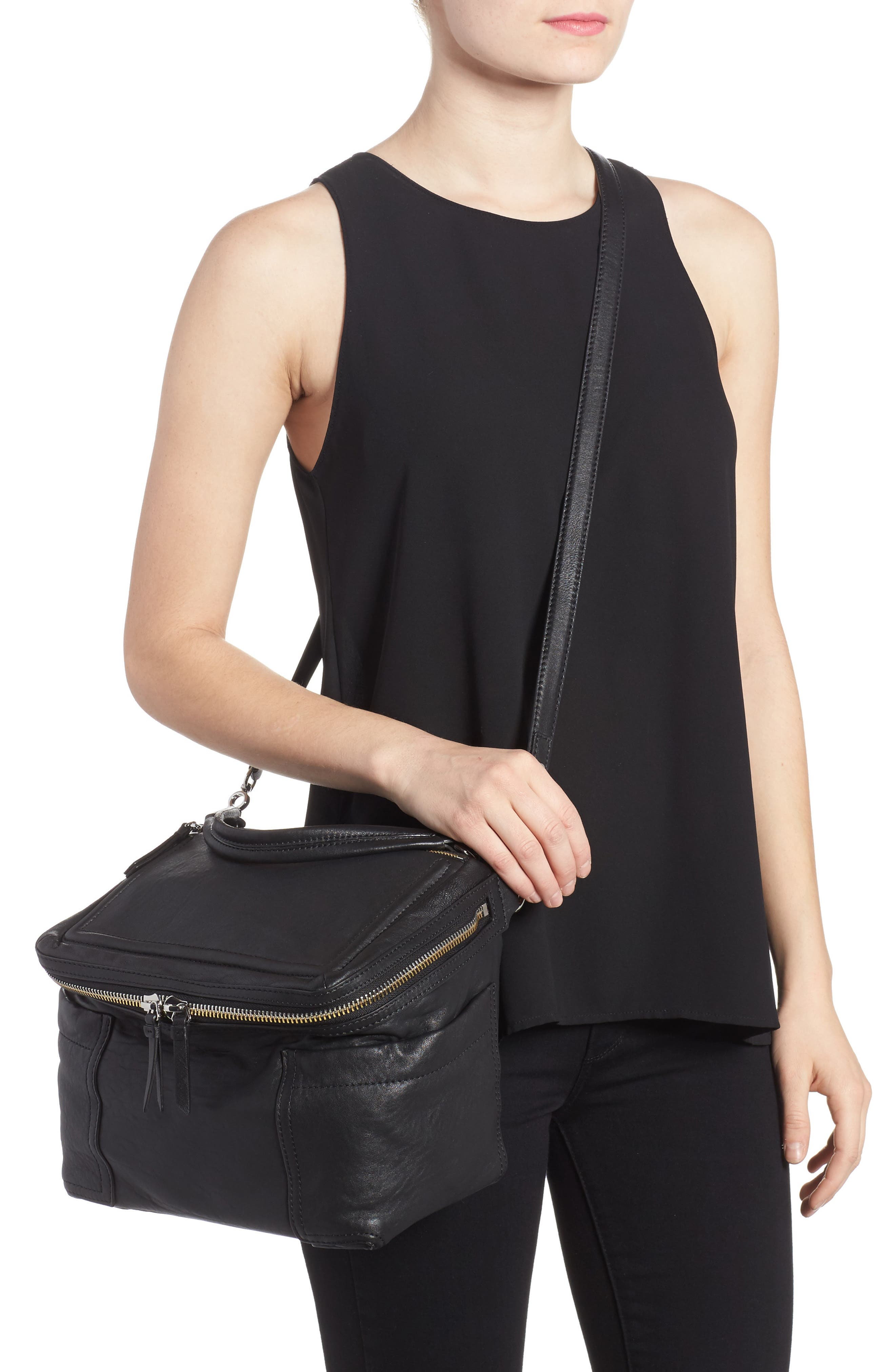 Large Patch Leather Crossbody Bag,                             Alternate thumbnail 5, color,