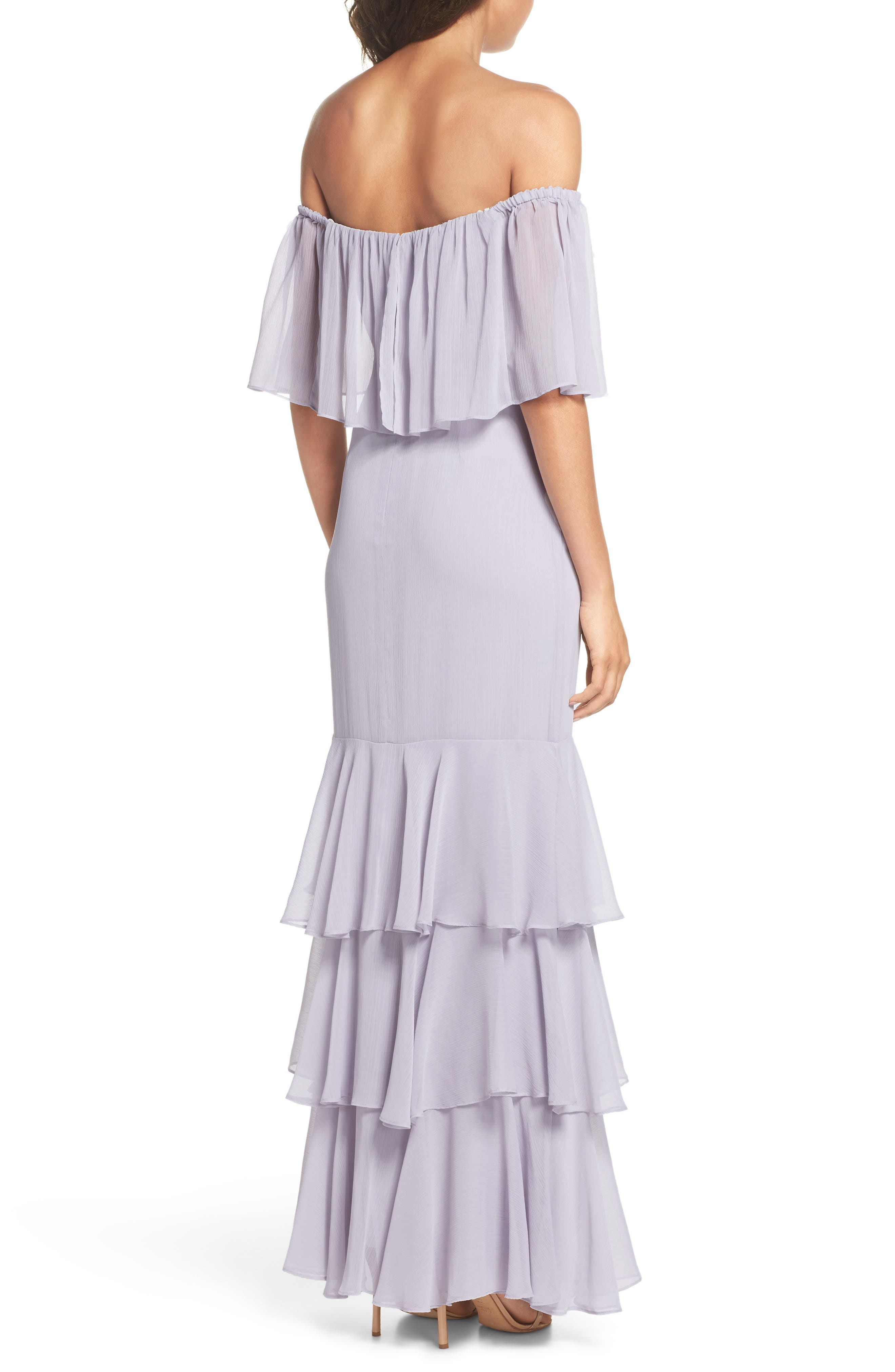 Penelope Off the Shoulder Popover Gown,                             Alternate thumbnail 2, color,                             020