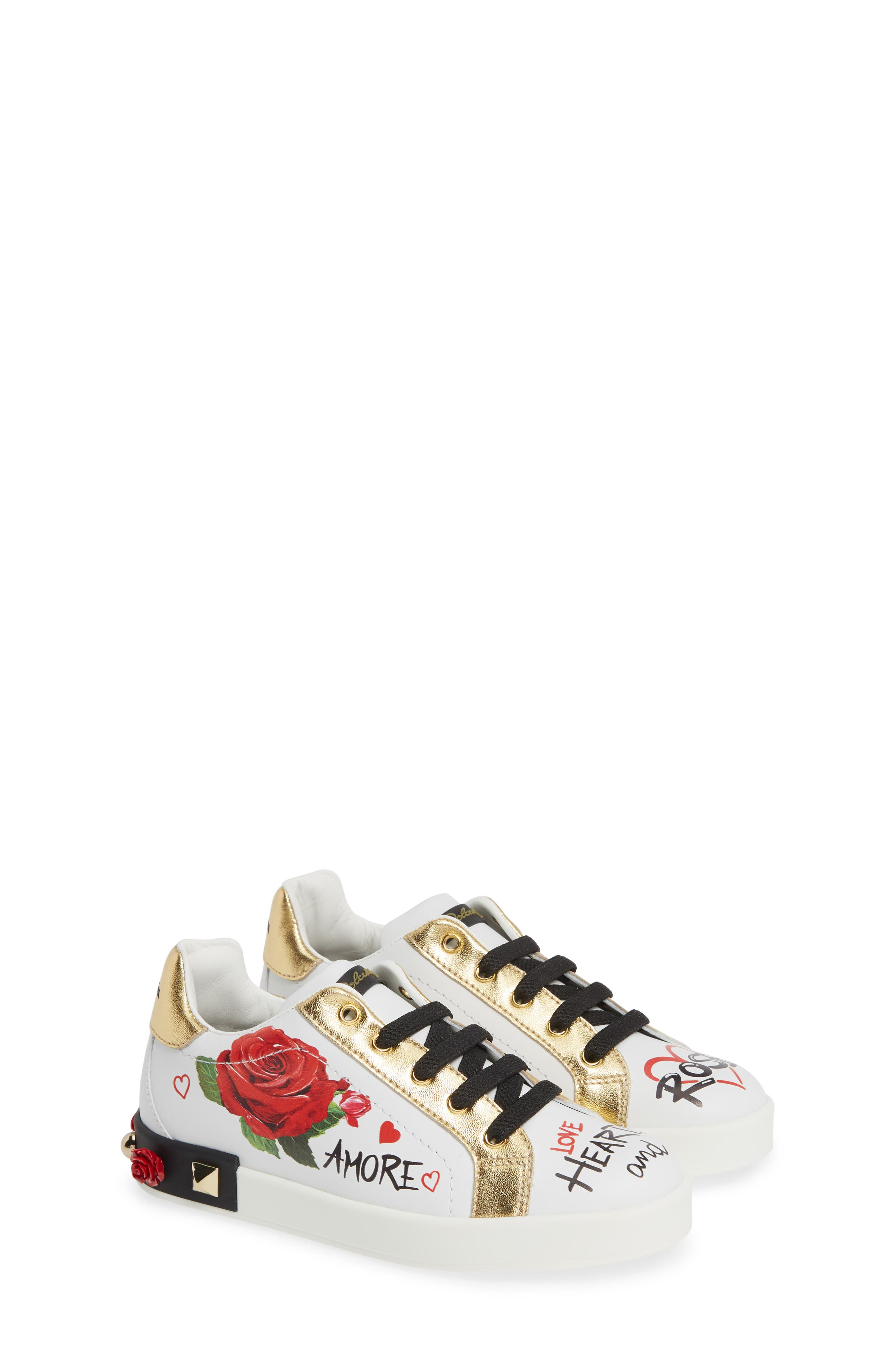 Amore Low Top Sneaker, Main, color, WHITE