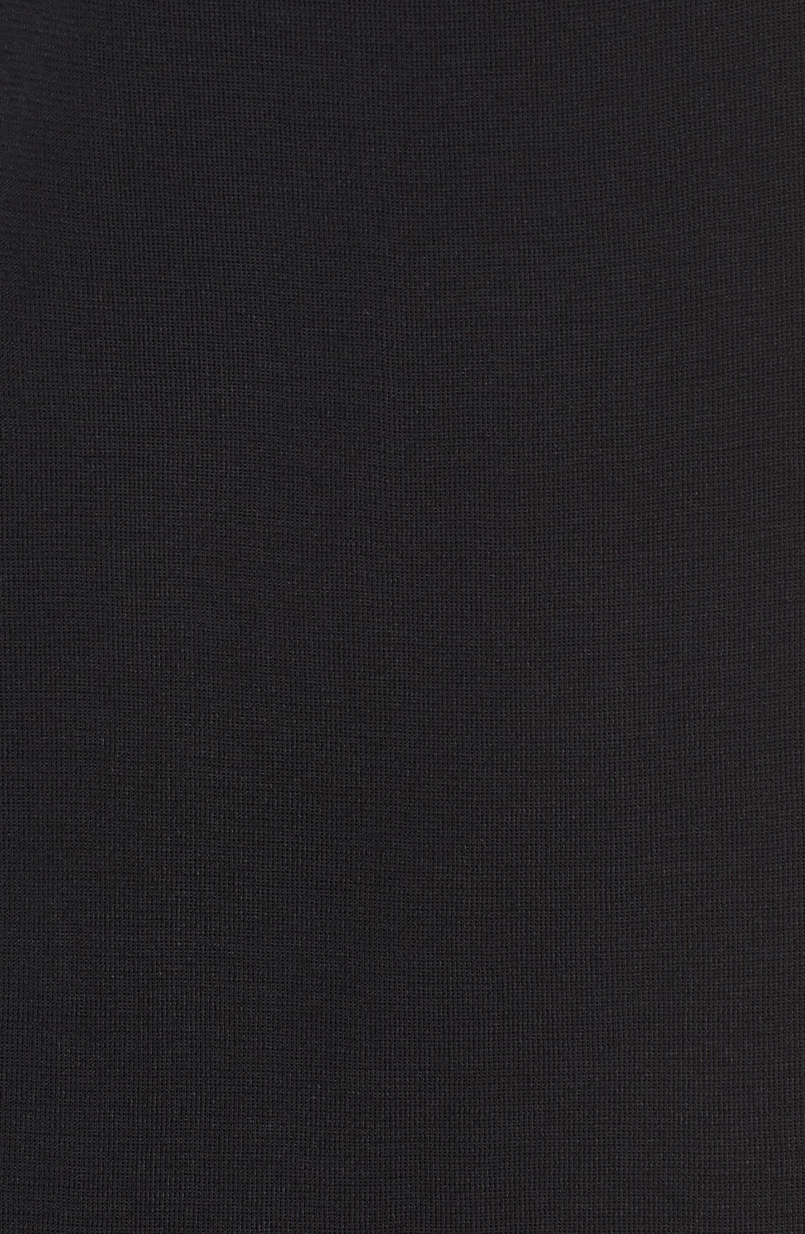 MING WANG,                             Double Slit Maxi Skirt,                             Alternate thumbnail 5, color,                             001