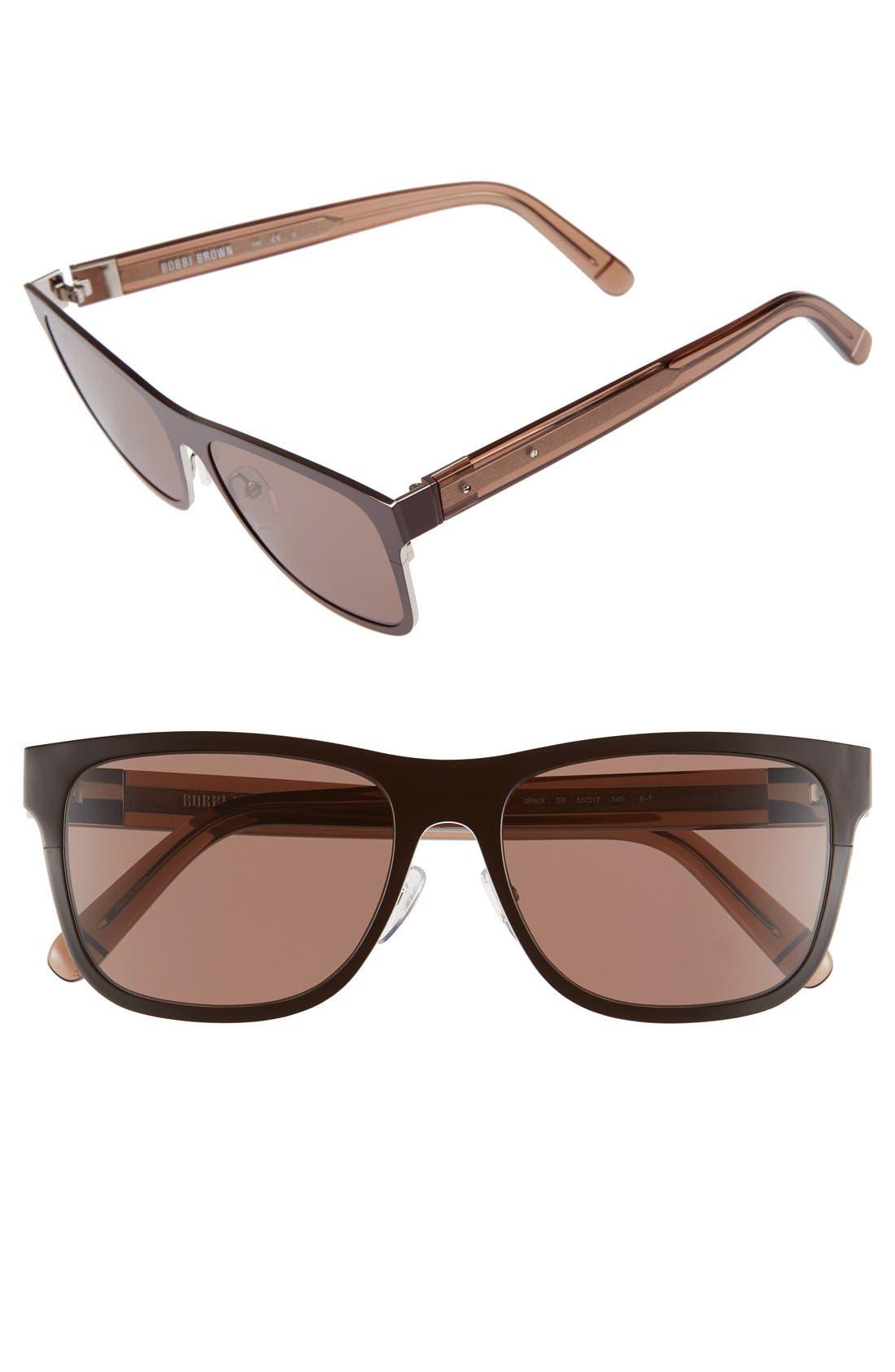 'The Zach' 56mm Retro Sunglasses,                             Main thumbnail 1, color,