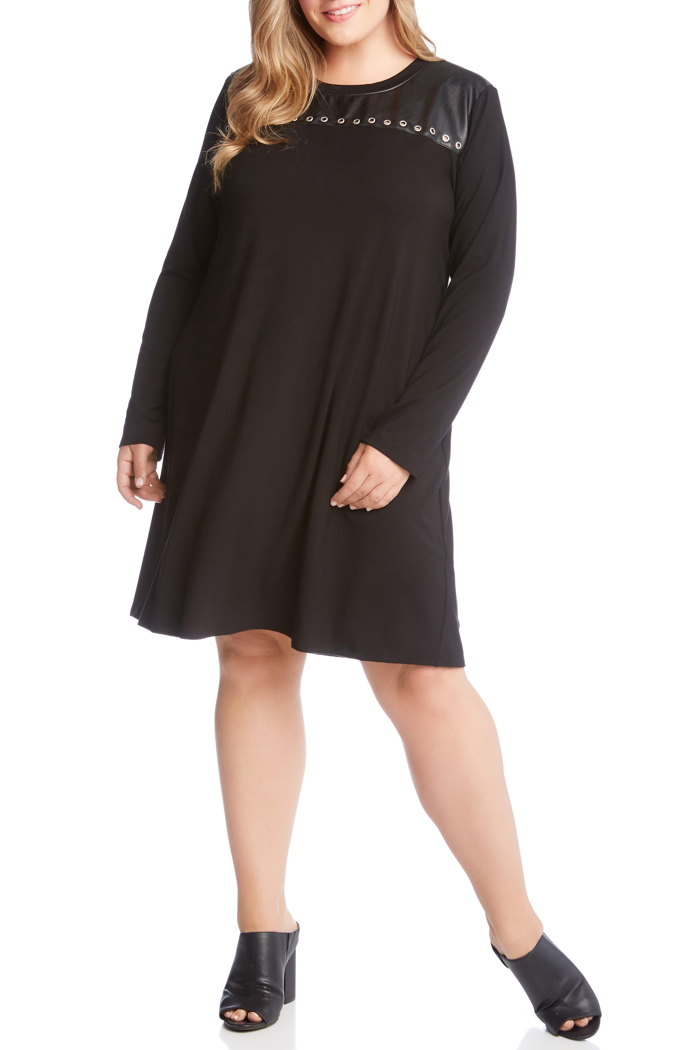 Plus Size Karen Kane Studded A-Line Dress