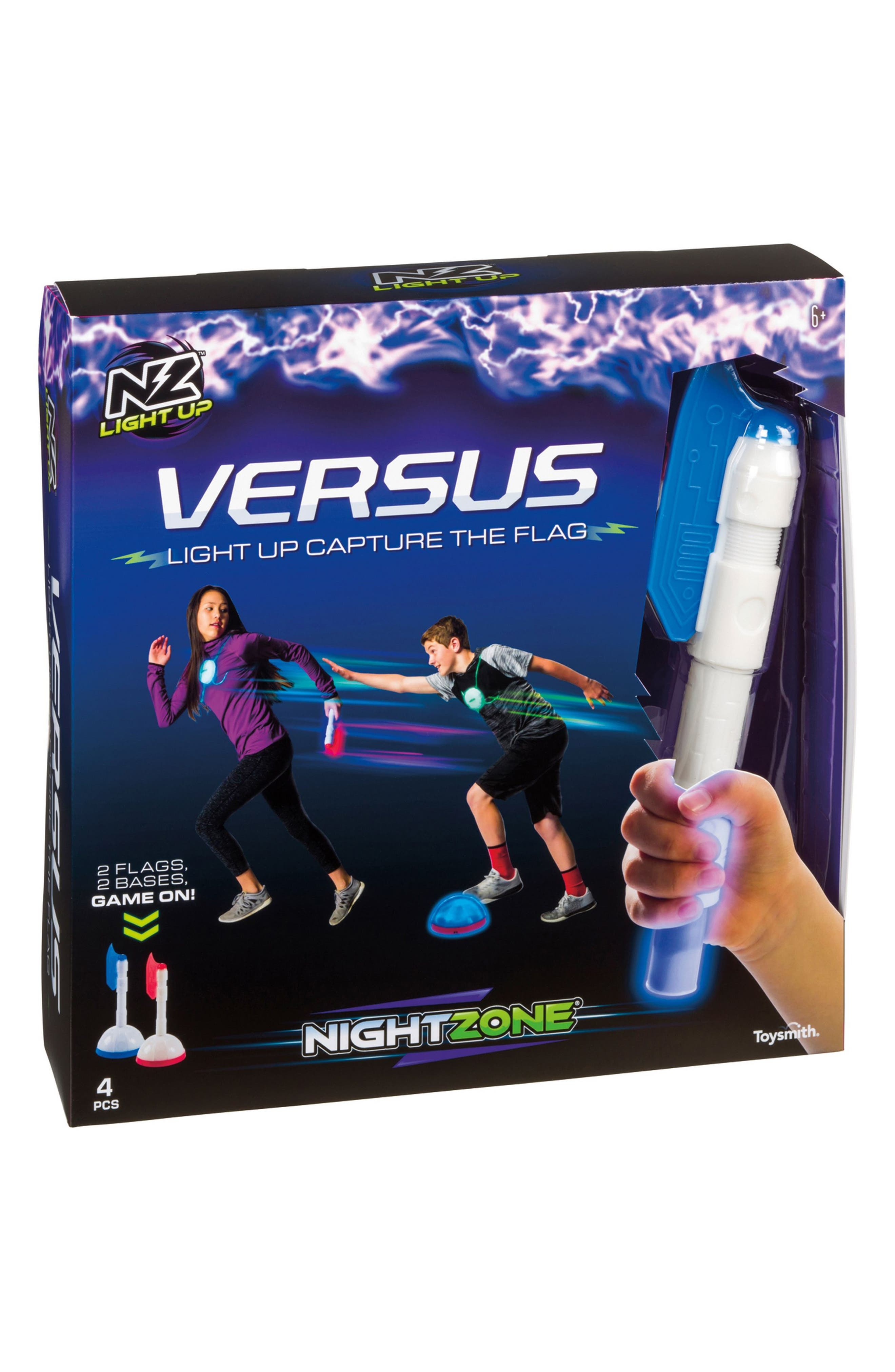 Nightzone Versus Light-Up Capture the Flag Set,                         Main,                         color, RED