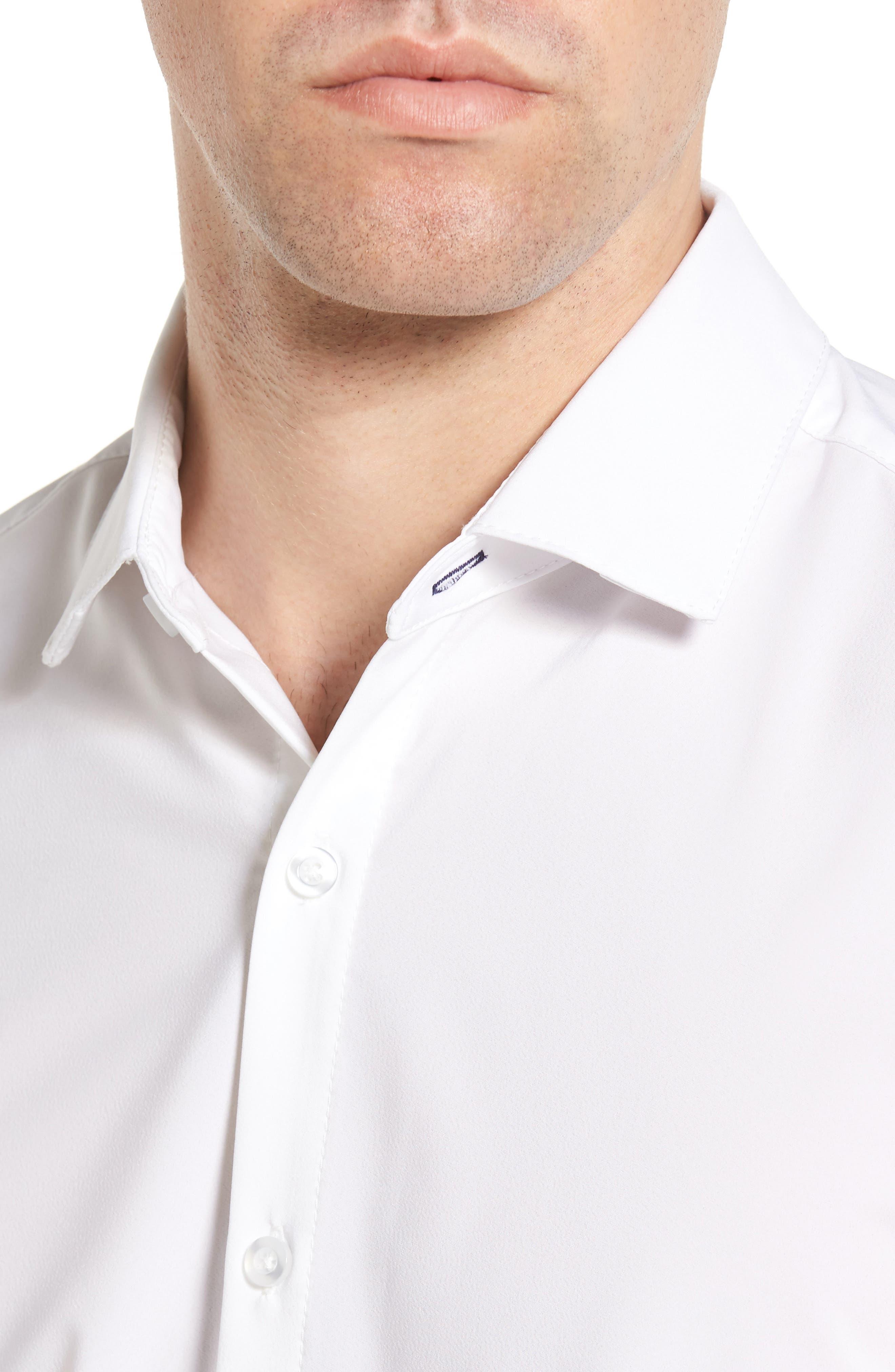 Manhattan Sport Shirt,                             Alternate thumbnail 4, color,                             WHITE