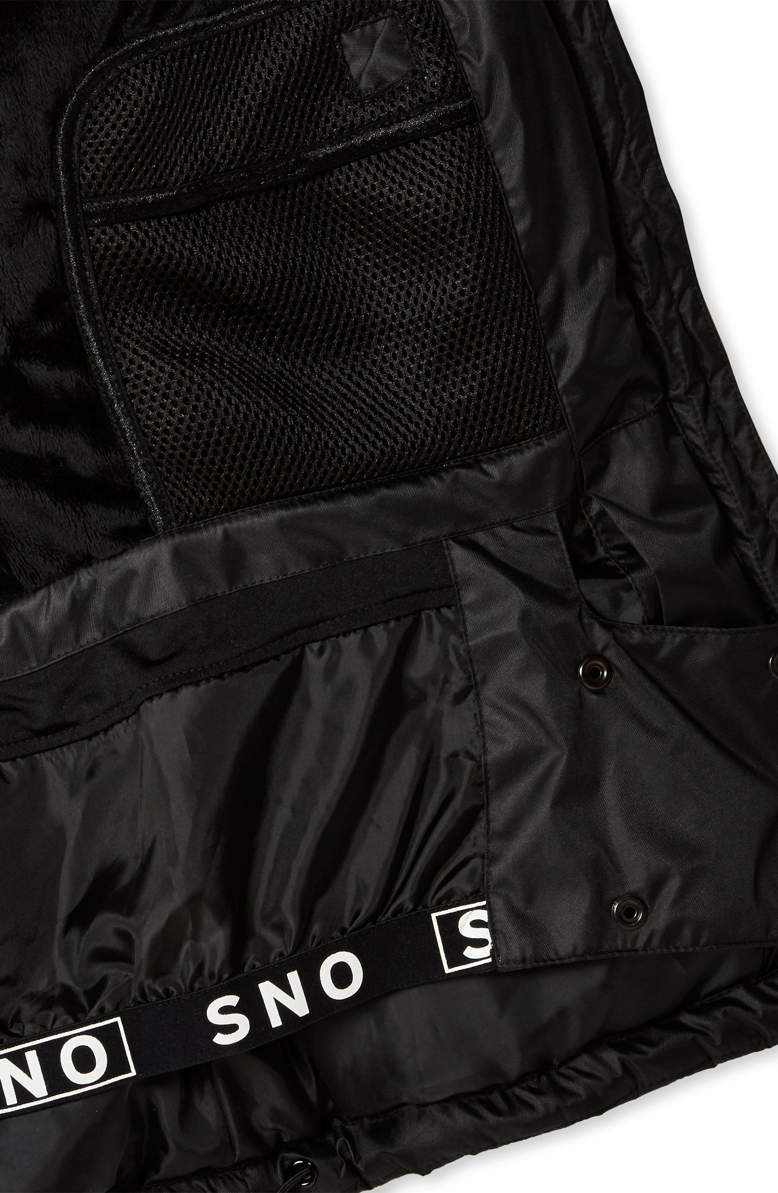 Sno Baby Ski Jacket,                             Alternate thumbnail 6, color,                             BLACK