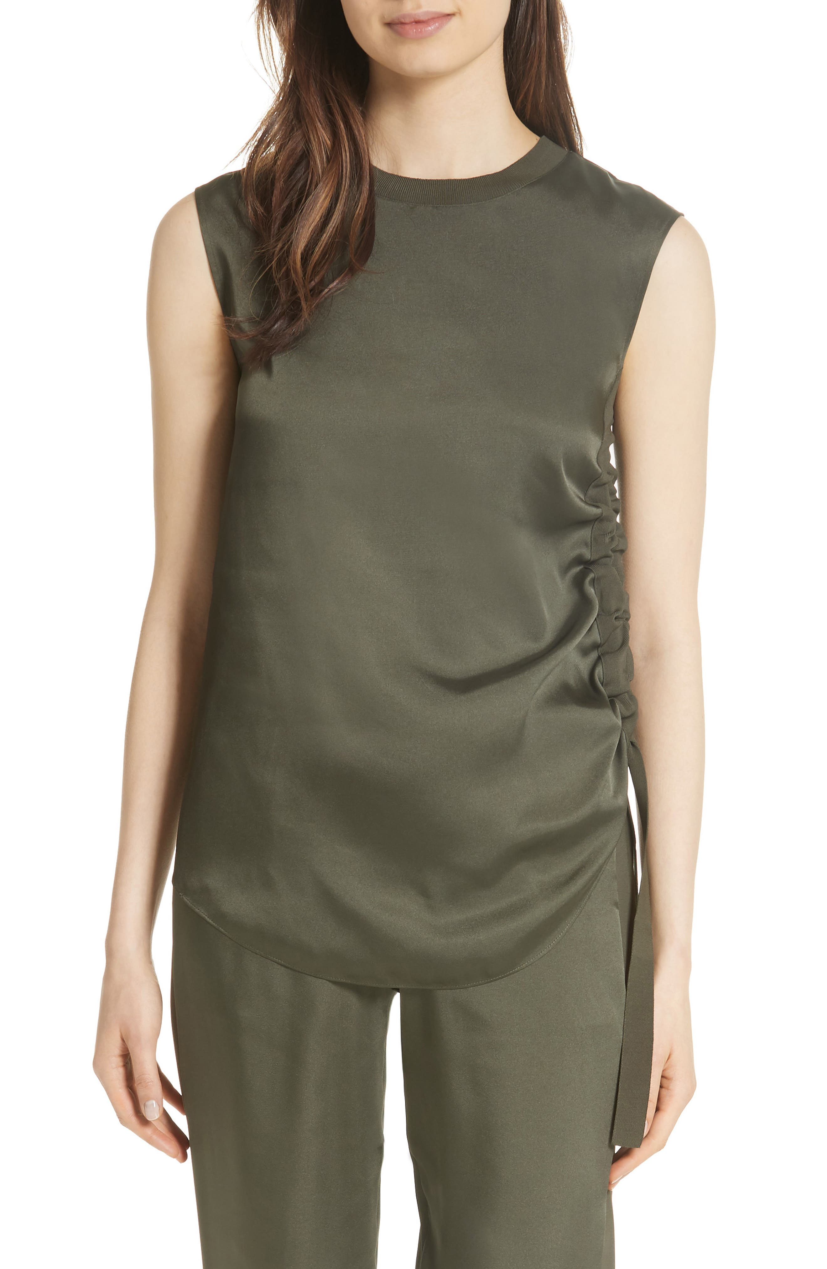 Side Ruched Top,                         Main,                         color,