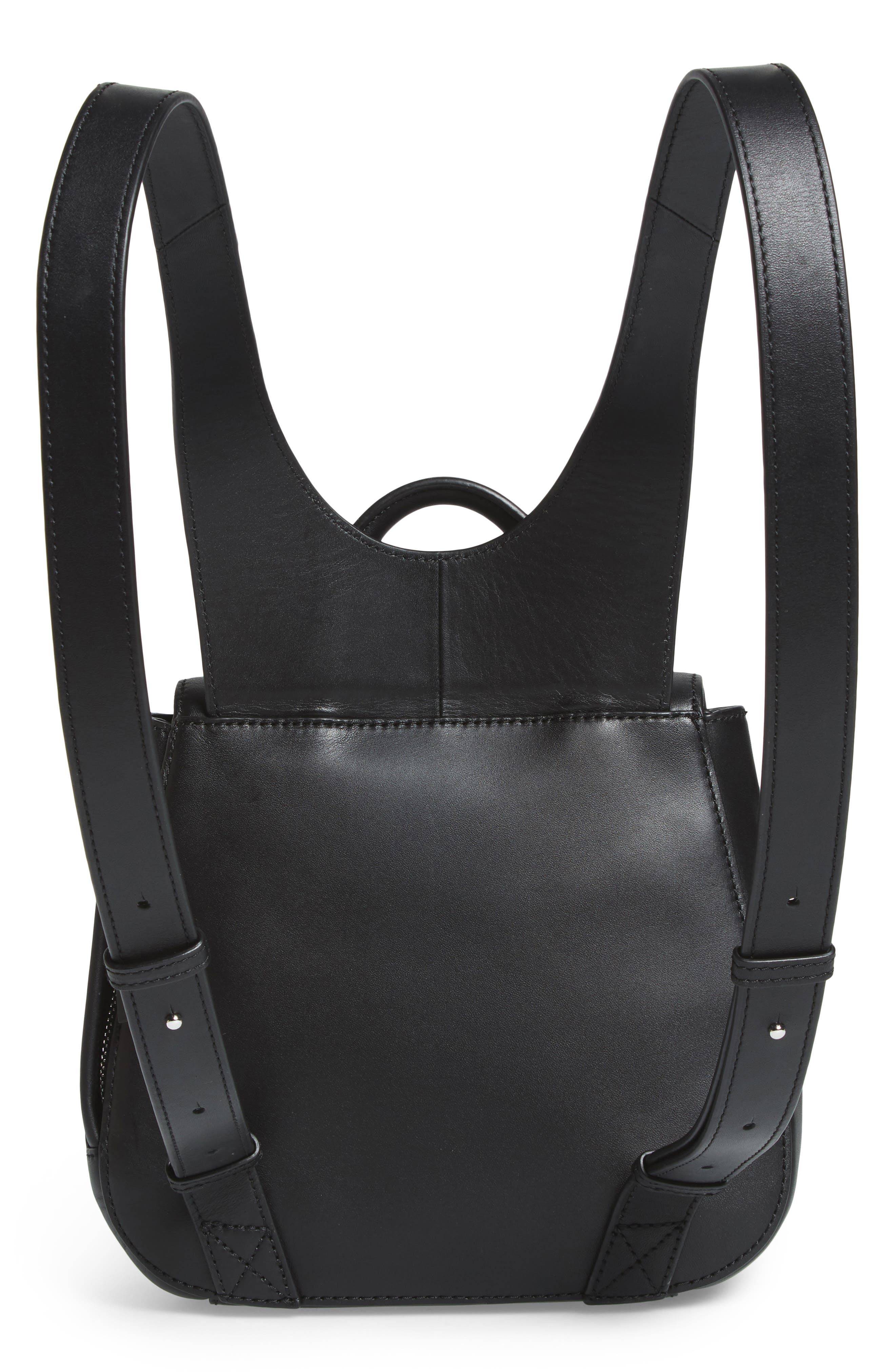 Kate Mini Leather Backpack,                             Alternate thumbnail 3, color,                             001