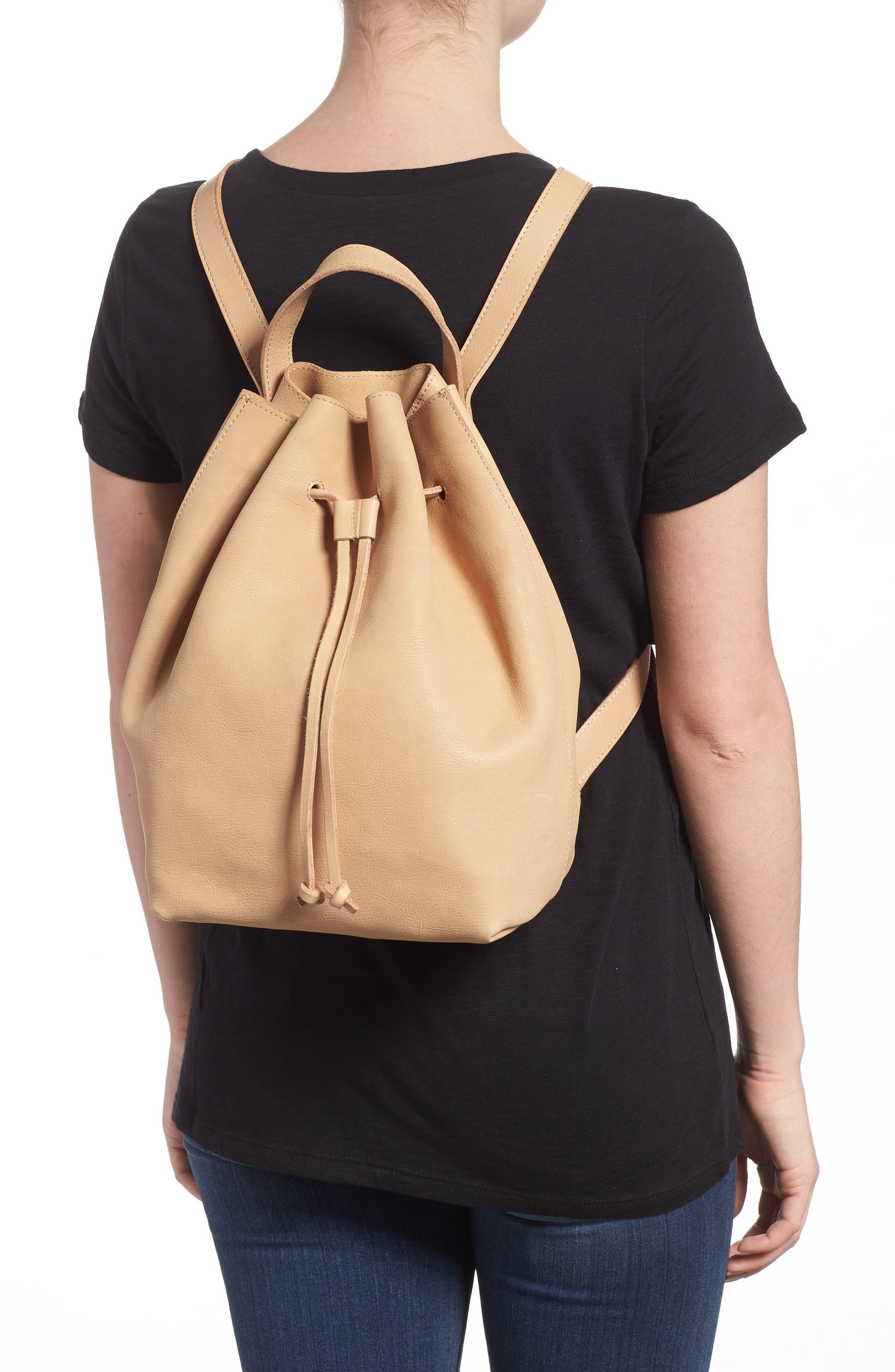 Somerset Leather Backpack,                             Alternate thumbnail 2, color,                             LINEN