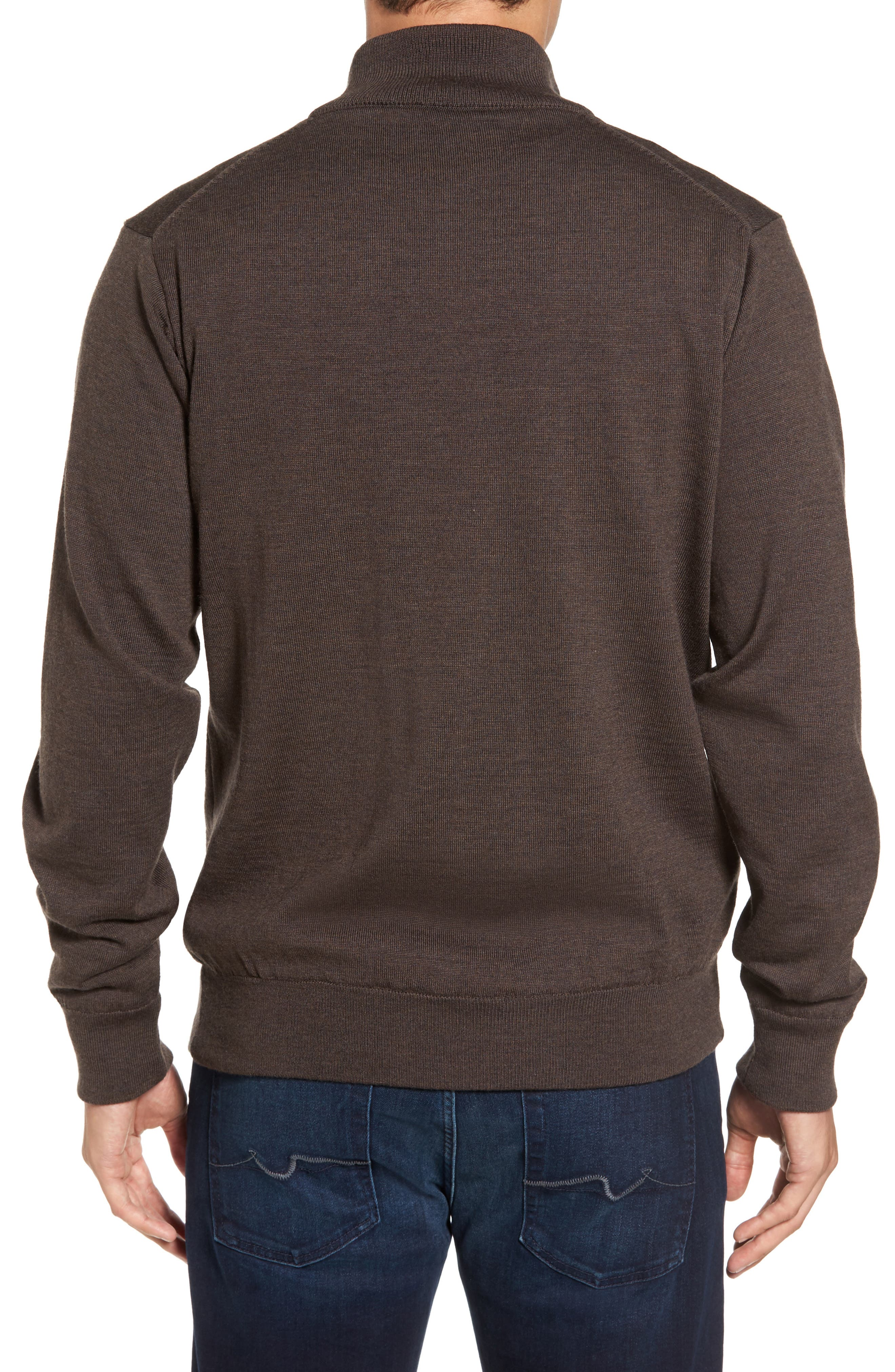 Gamlin Quarter Zip Wool Pullover,                             Alternate thumbnail 2, color,                             RUSTIC