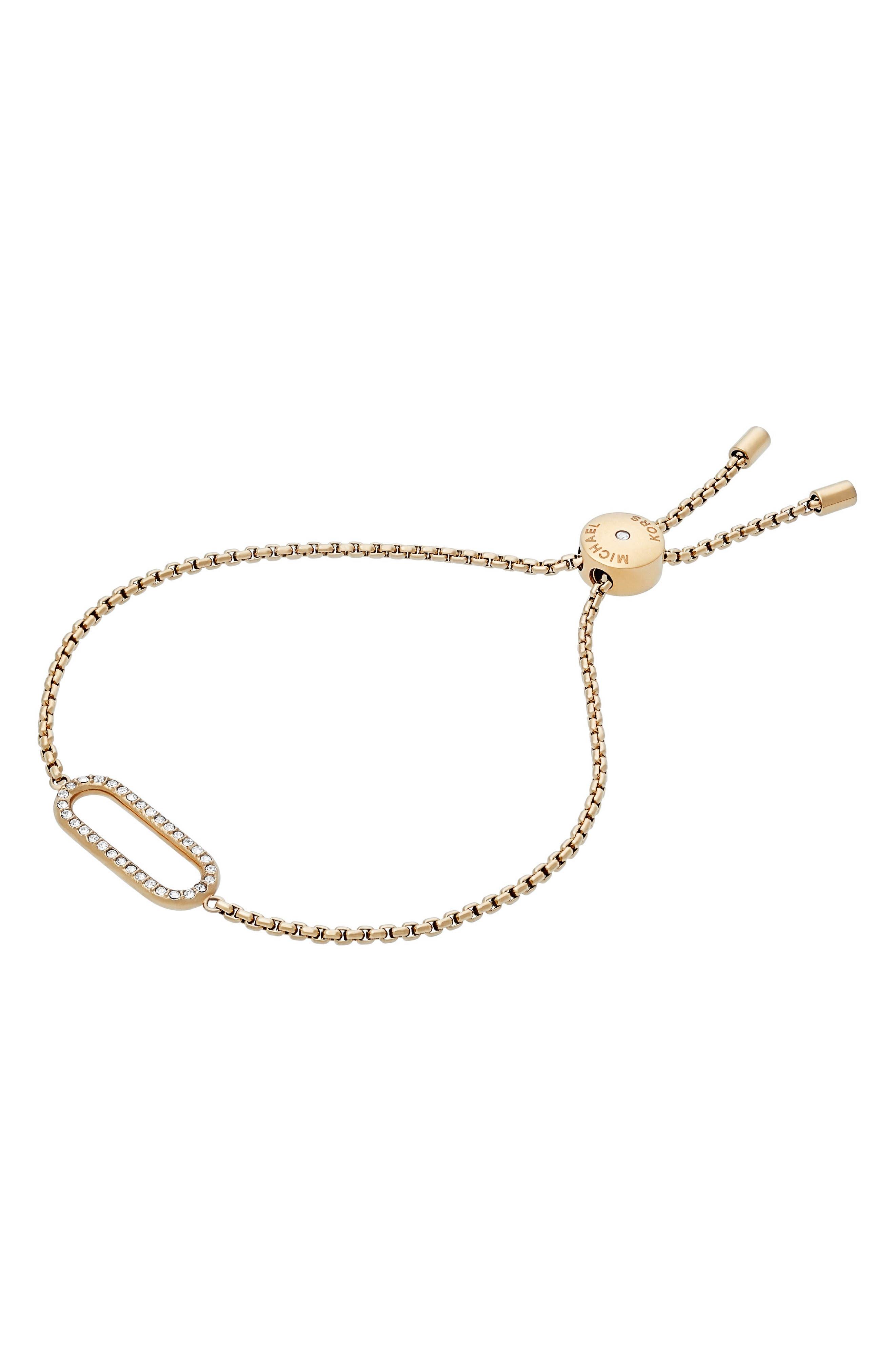 Adjustable Crystal Bracelet,                             Main thumbnail 2, color,