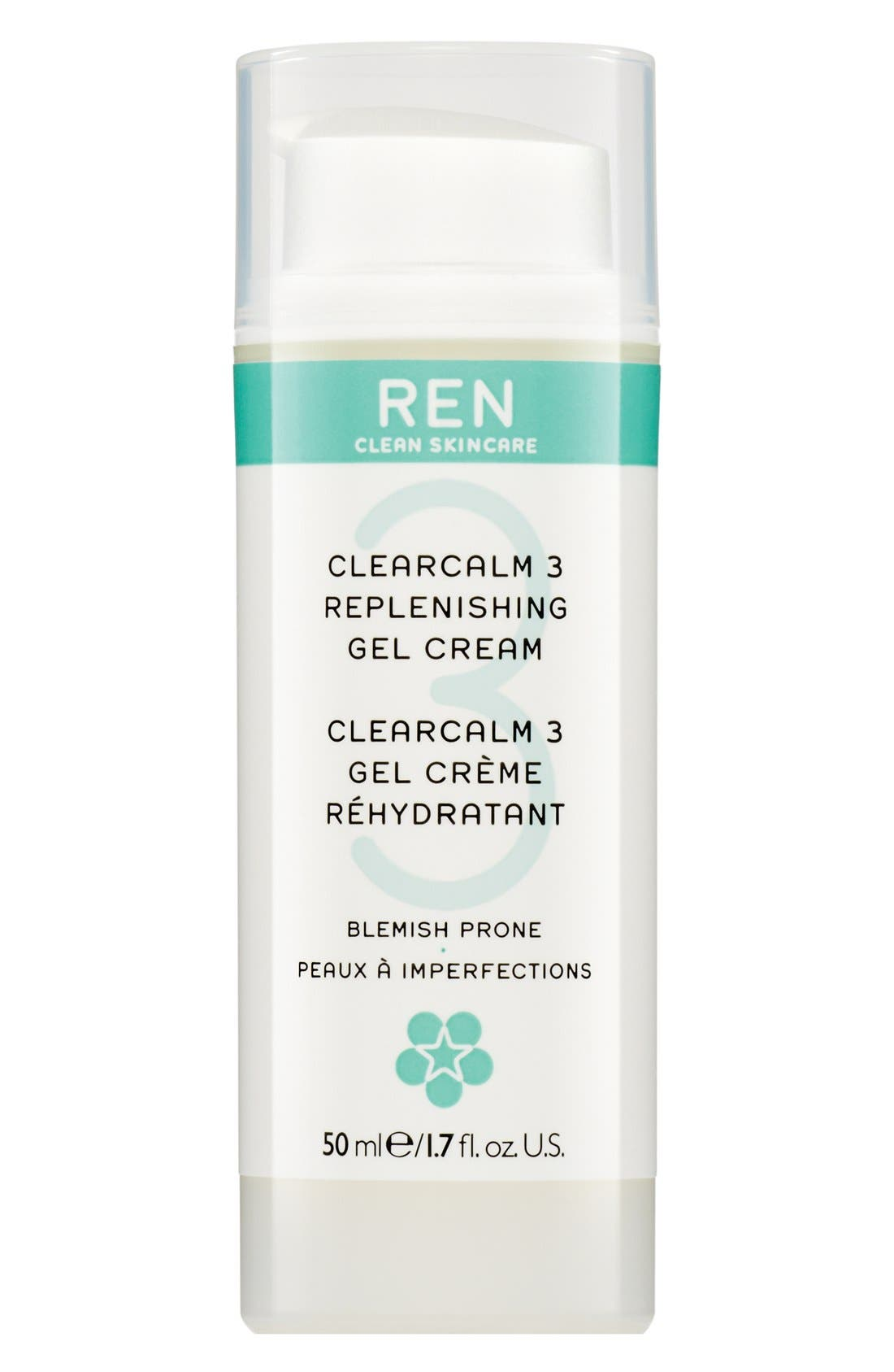 SPACE.NK.apothecary REN Clearcalm 3 Replenishing Gel Creme,                             Main thumbnail 1, color,                             000
