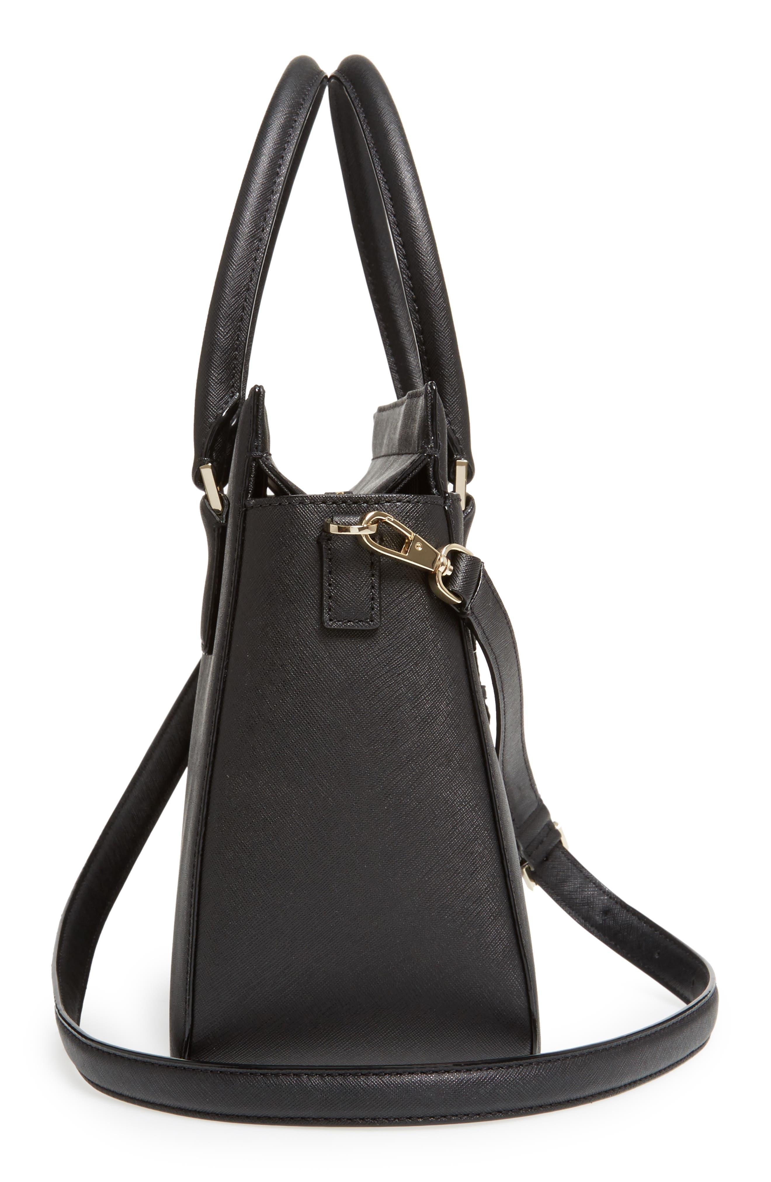 cameron street - sally leather satchel,                             Alternate thumbnail 5, color,                             001