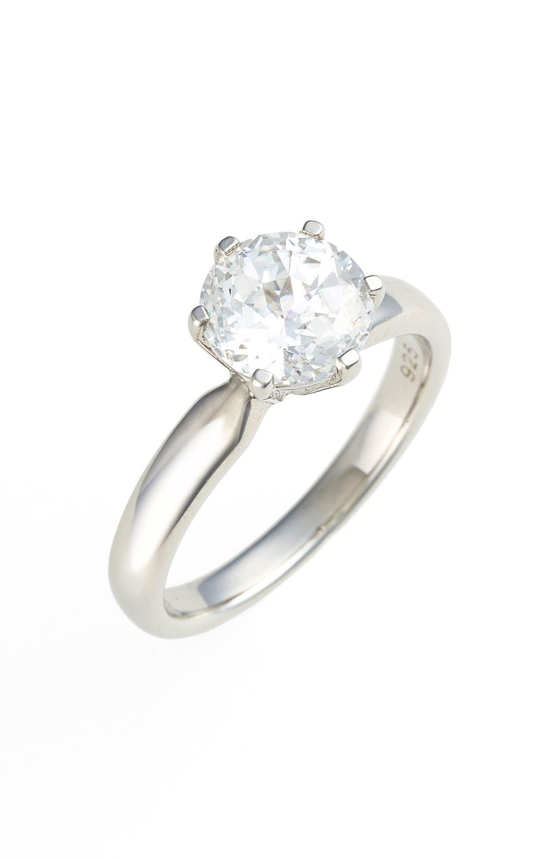 'Lassaire' Round Solitaire Ring,                             Main thumbnail 1, color,                             040