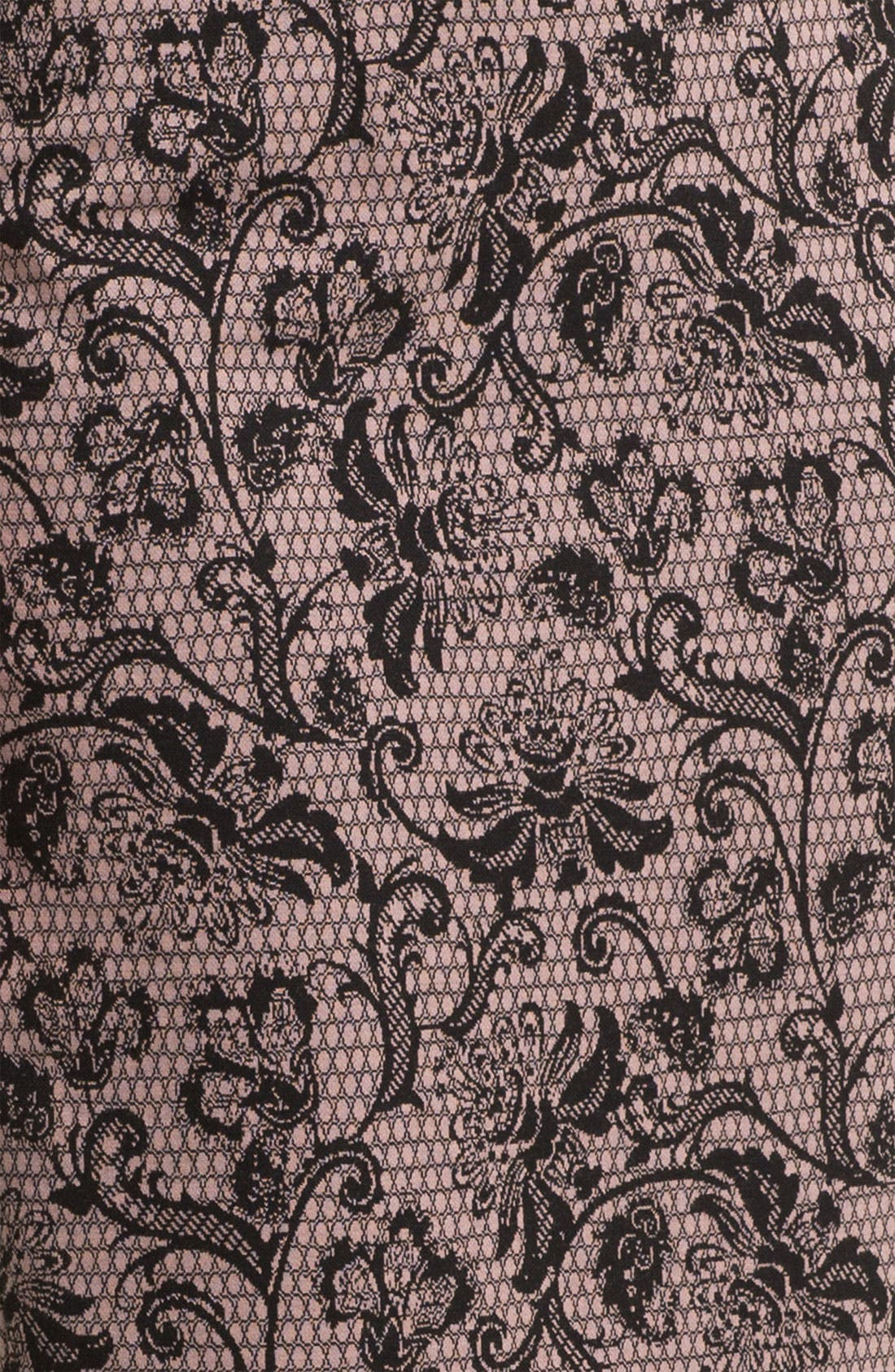 Belted Ponte Skirt,                             Alternate thumbnail 18, color,