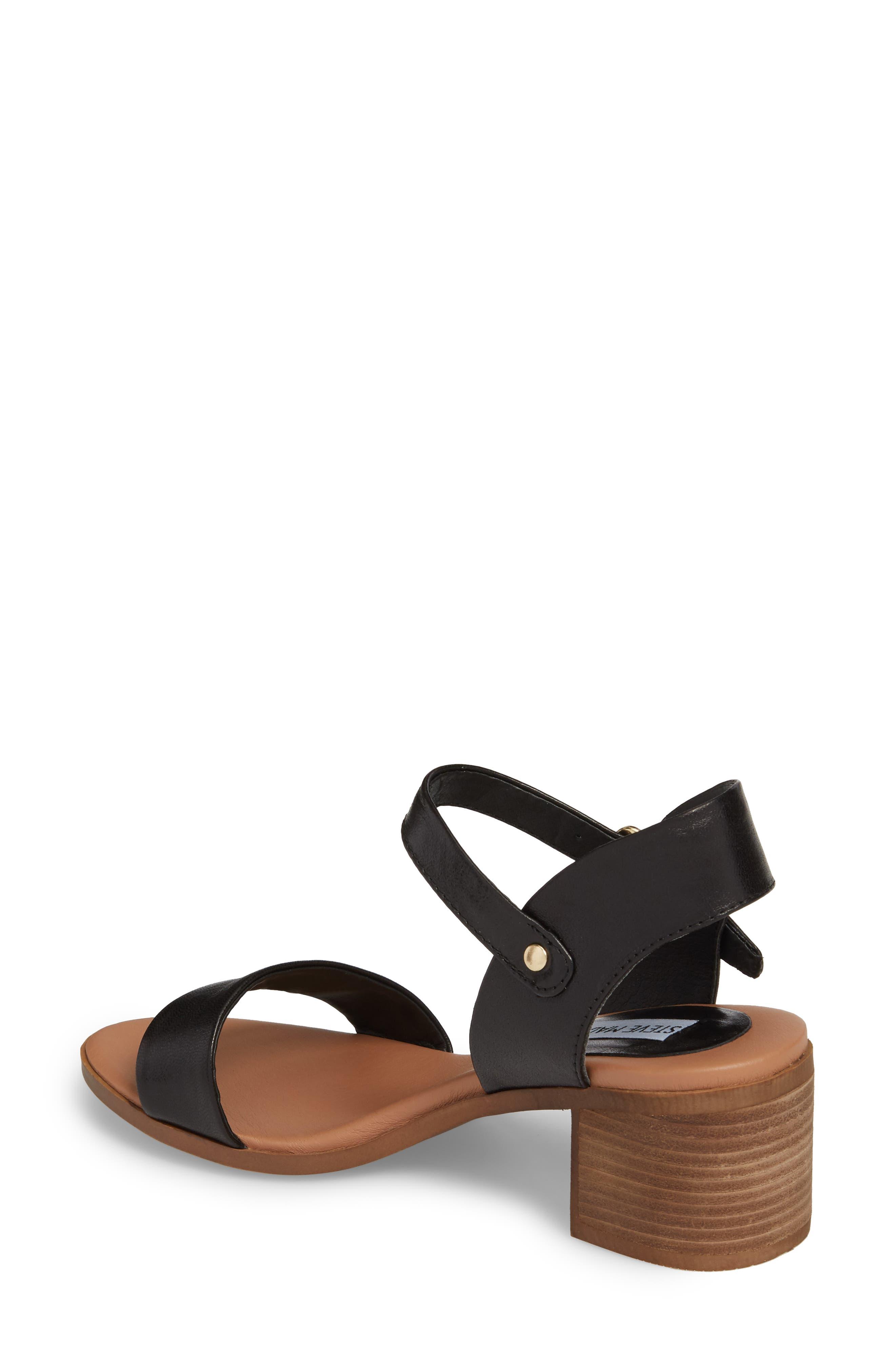 April Block Heel Sandal,                             Alternate thumbnail 2, color,                             BLACK LEATHER