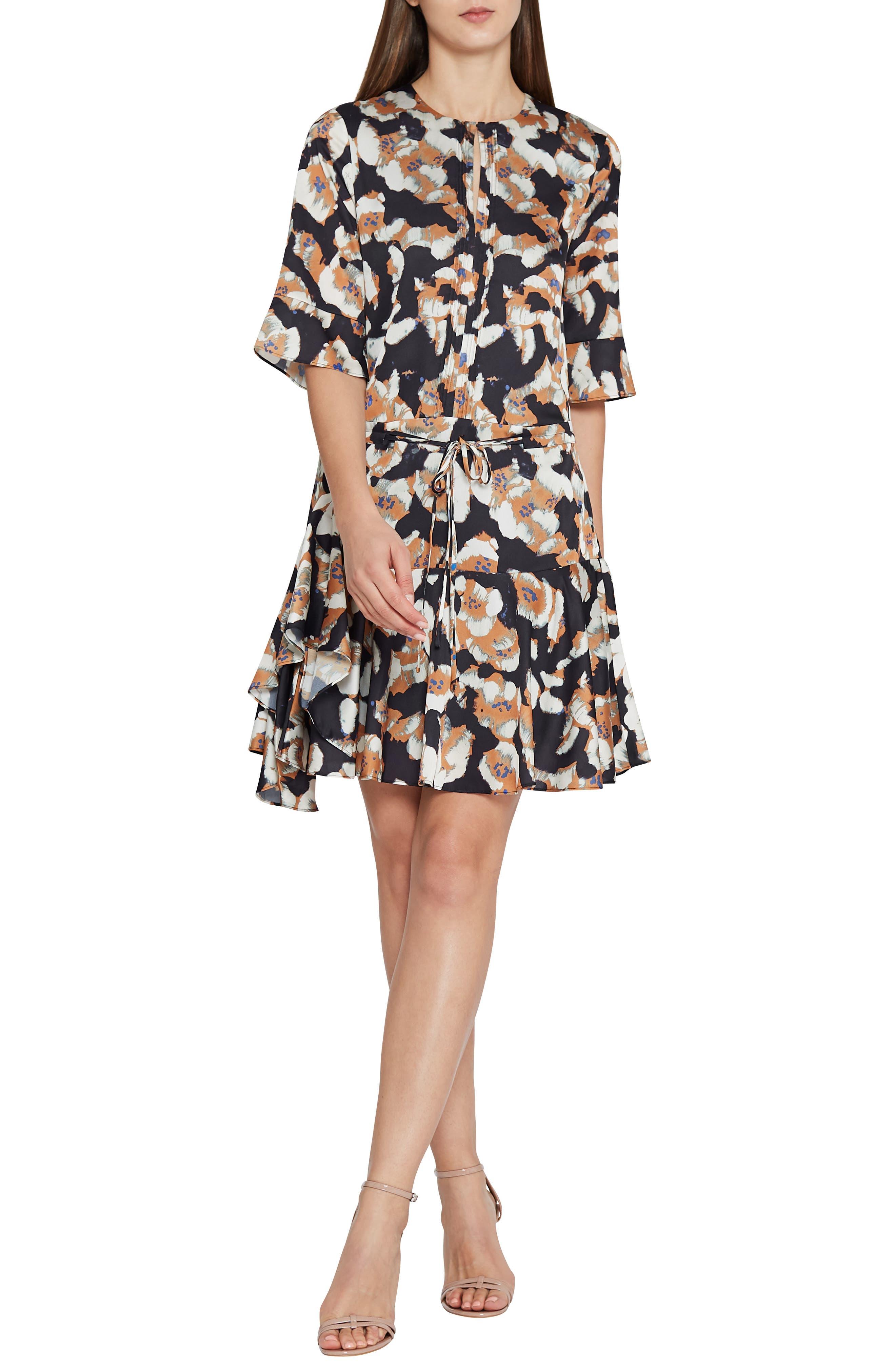 Kianni Floral Fit & Flare Dress,                             Alternate thumbnail 3, color,                             MULTI