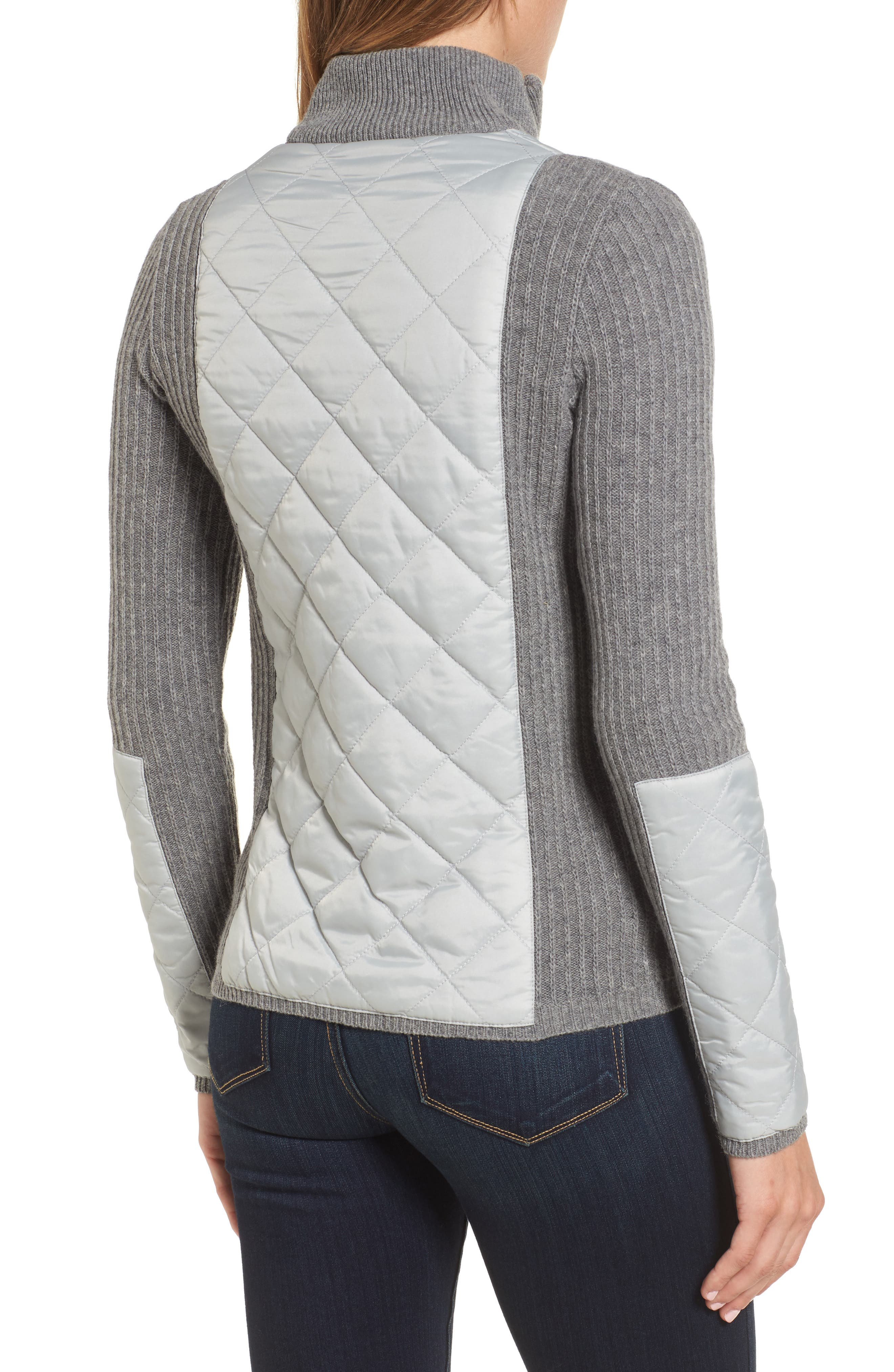 'Sporting' Zip Front Quilted Jacket,                             Alternate thumbnail 2, color,                             050
