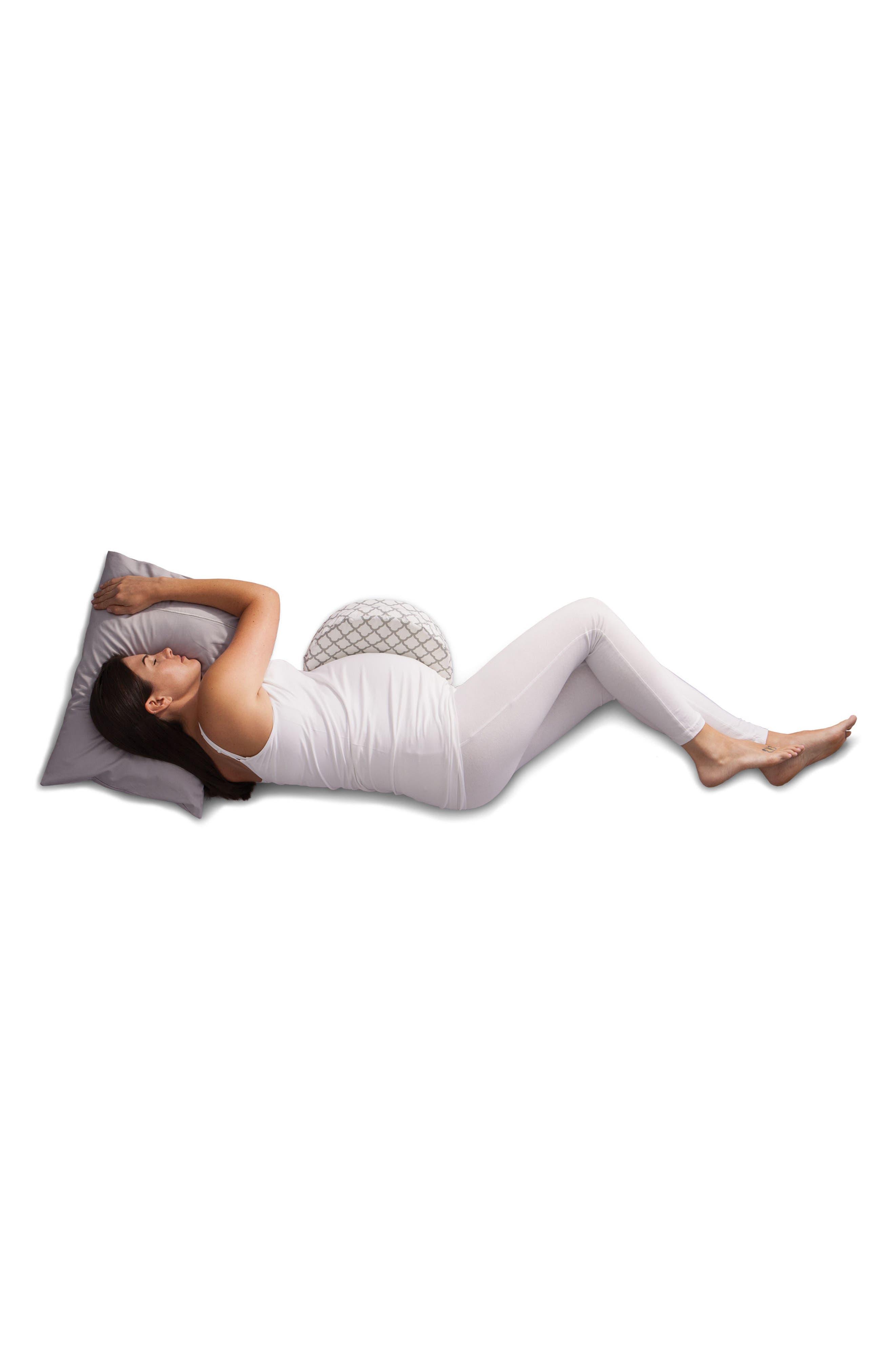 Pregnancy Wedge Cushion & Slipcover,                             Alternate thumbnail 5, color,                             WHITE TRELLIS