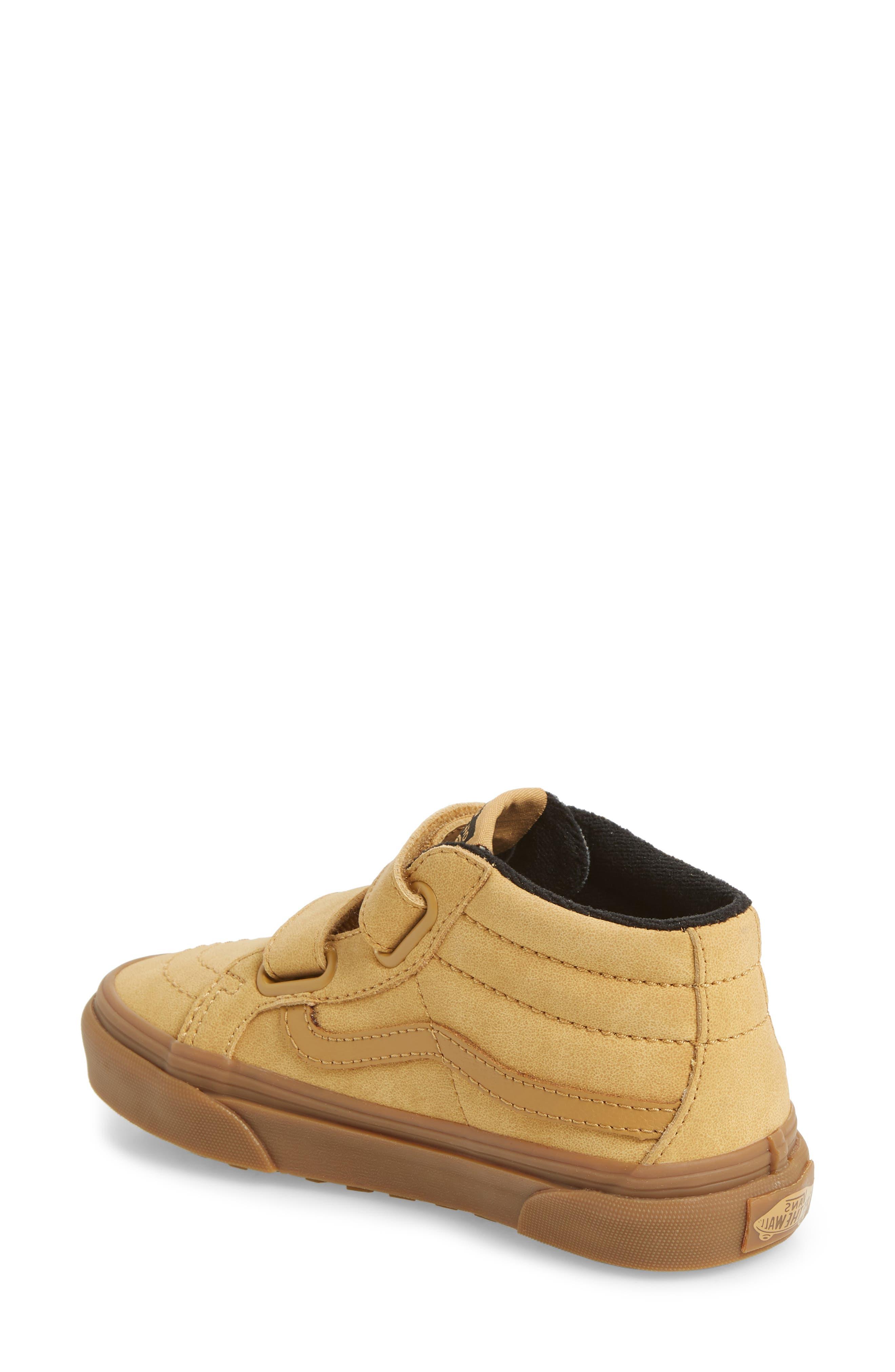 VANS,                             Sk8-Mid Reissue V Sneaker,                             Alternate thumbnail 2, color,                             VANSBUCK/ APPLE CINNAMON