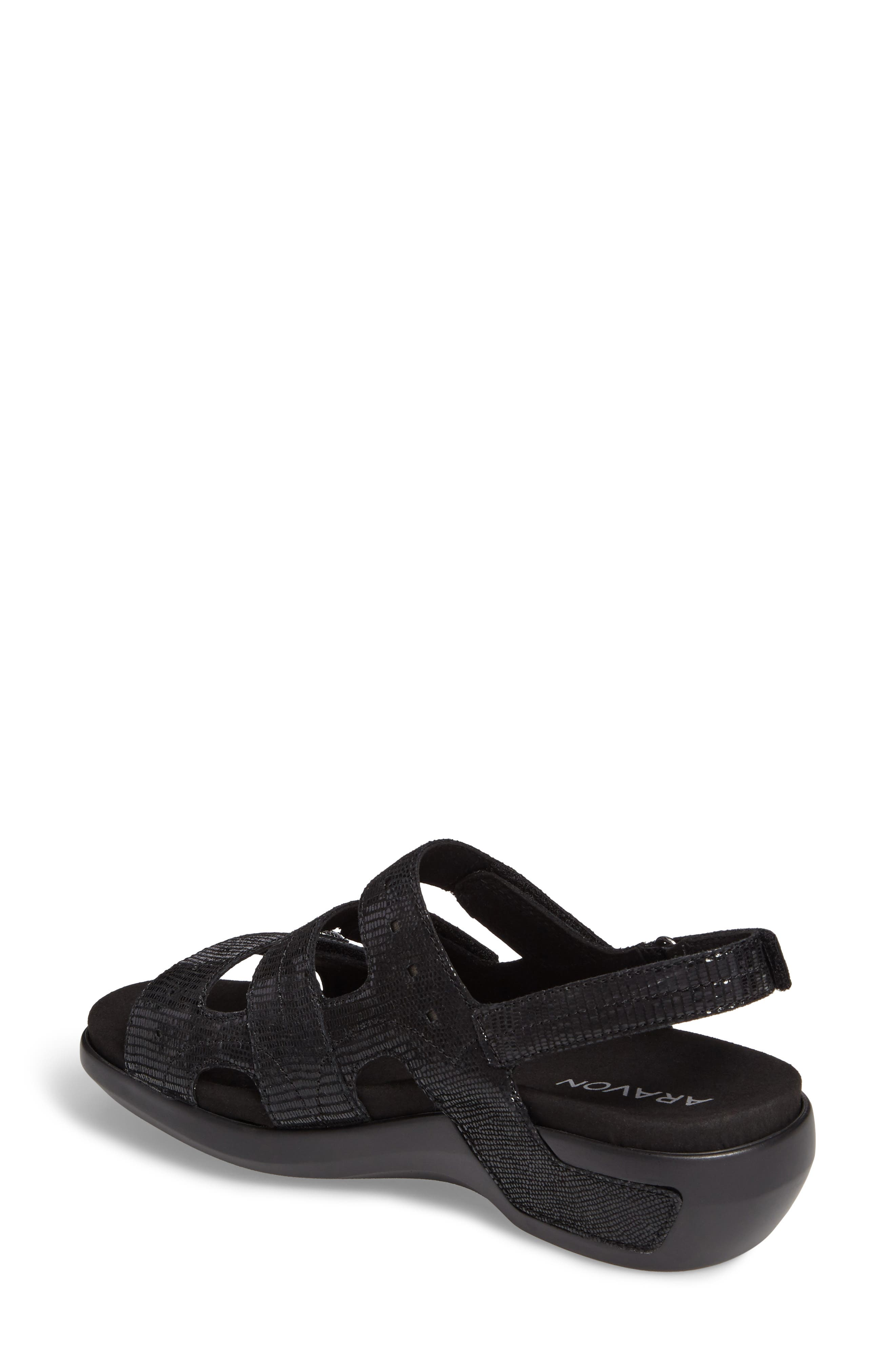 PC Wedge Sandal,                             Alternate thumbnail 2, color,                             BLACK FABRIC