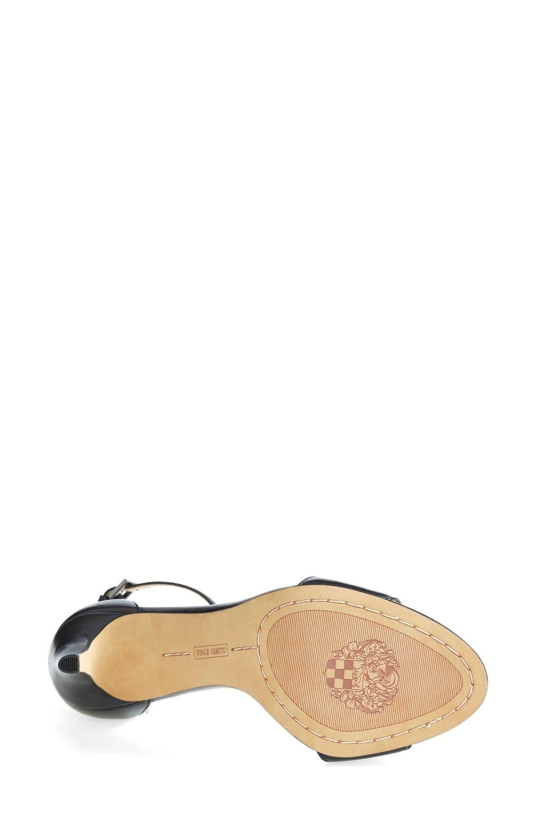 'Court' Ankle Strap Sandal,                             Alternate thumbnail 5, color,                             001