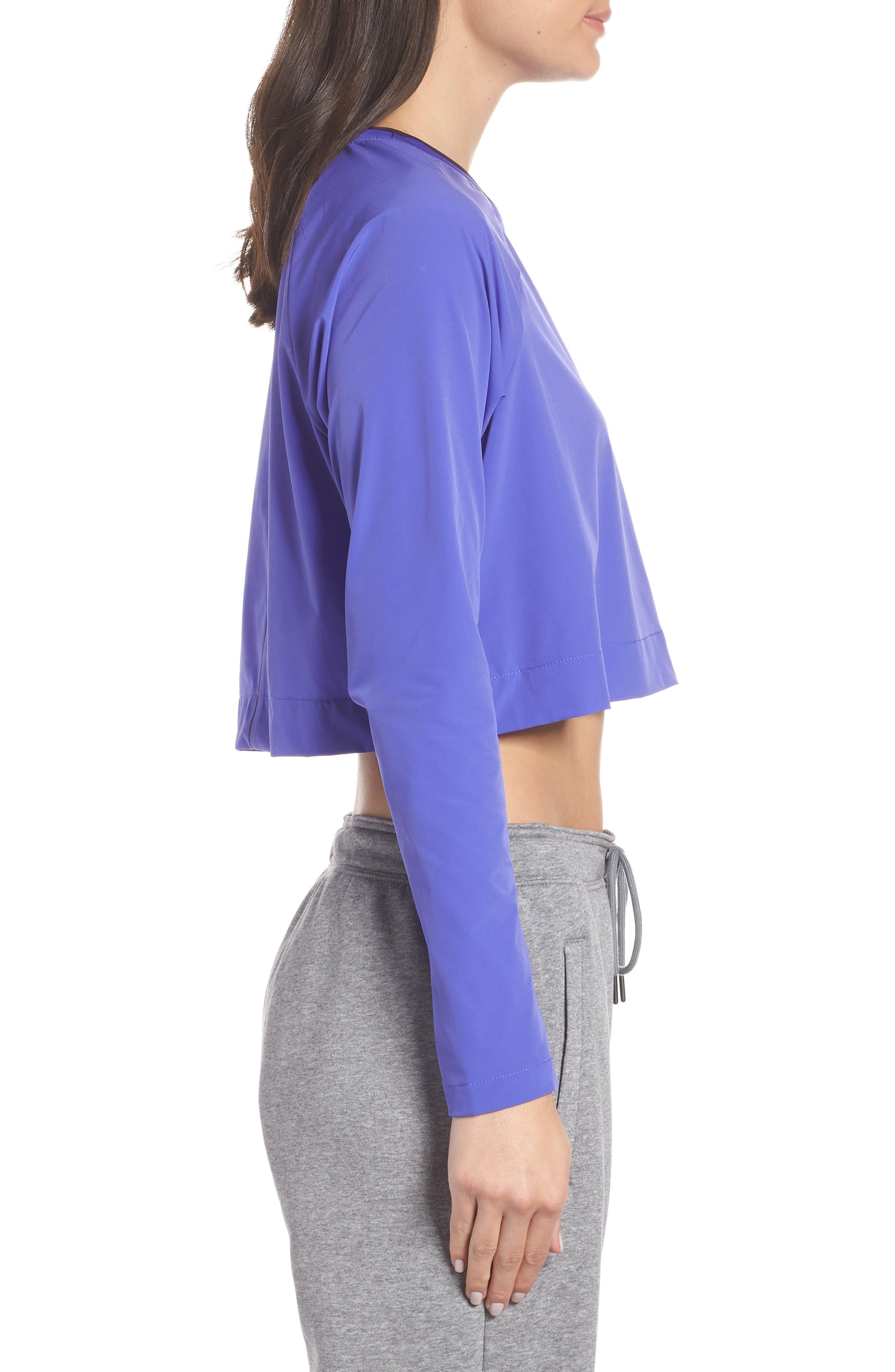 Sportswear Tech Pack Women's Long Sleeve Top,                             Alternate thumbnail 3, color,                             PERSIAN VIOLET/ BURGUNDY ASH