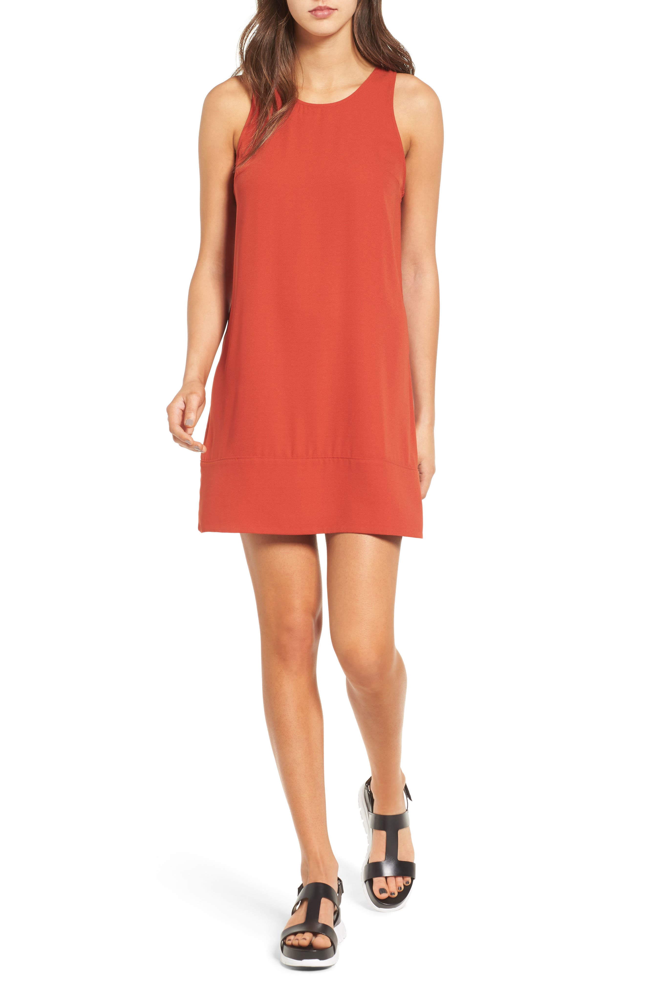 Racerback Shift Dress,                             Main thumbnail 36, color,