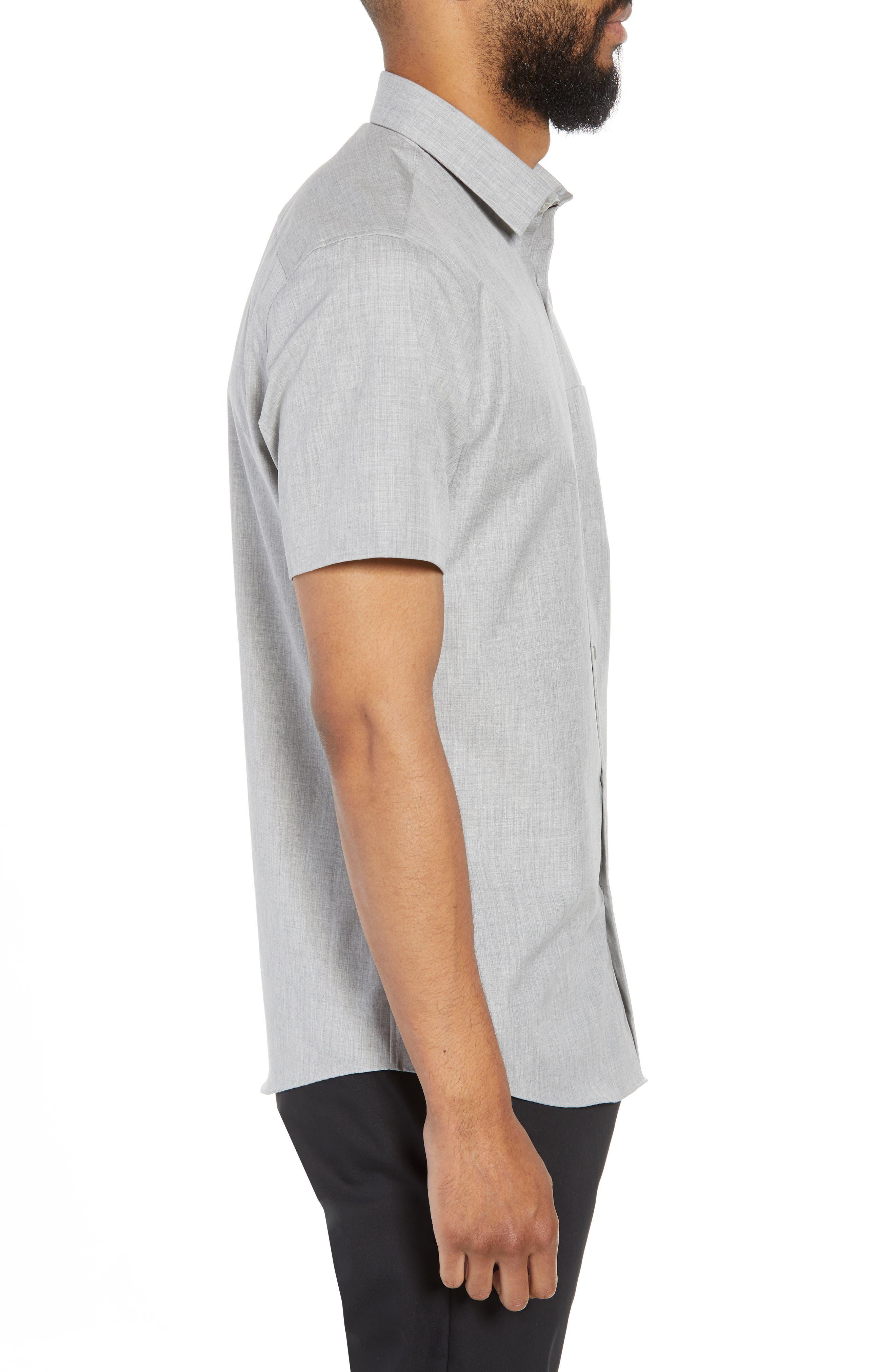 Trim Fit Slash Pocket Sport Shirt,                             Alternate thumbnail 3, color,                             050
