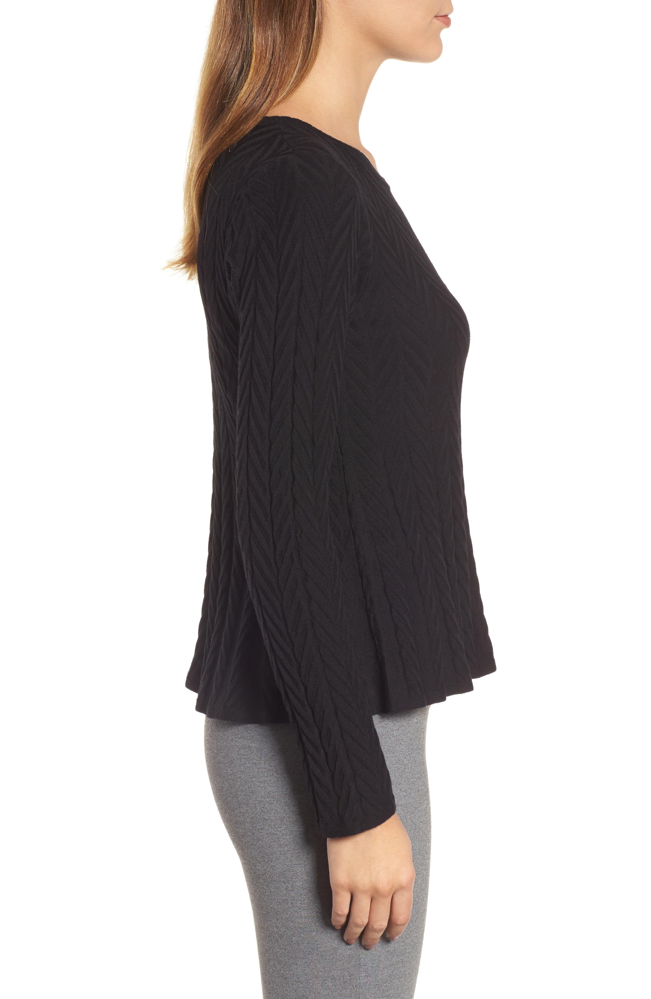 Chevron Stitch Sweater,                             Alternate thumbnail 3, color,                             010