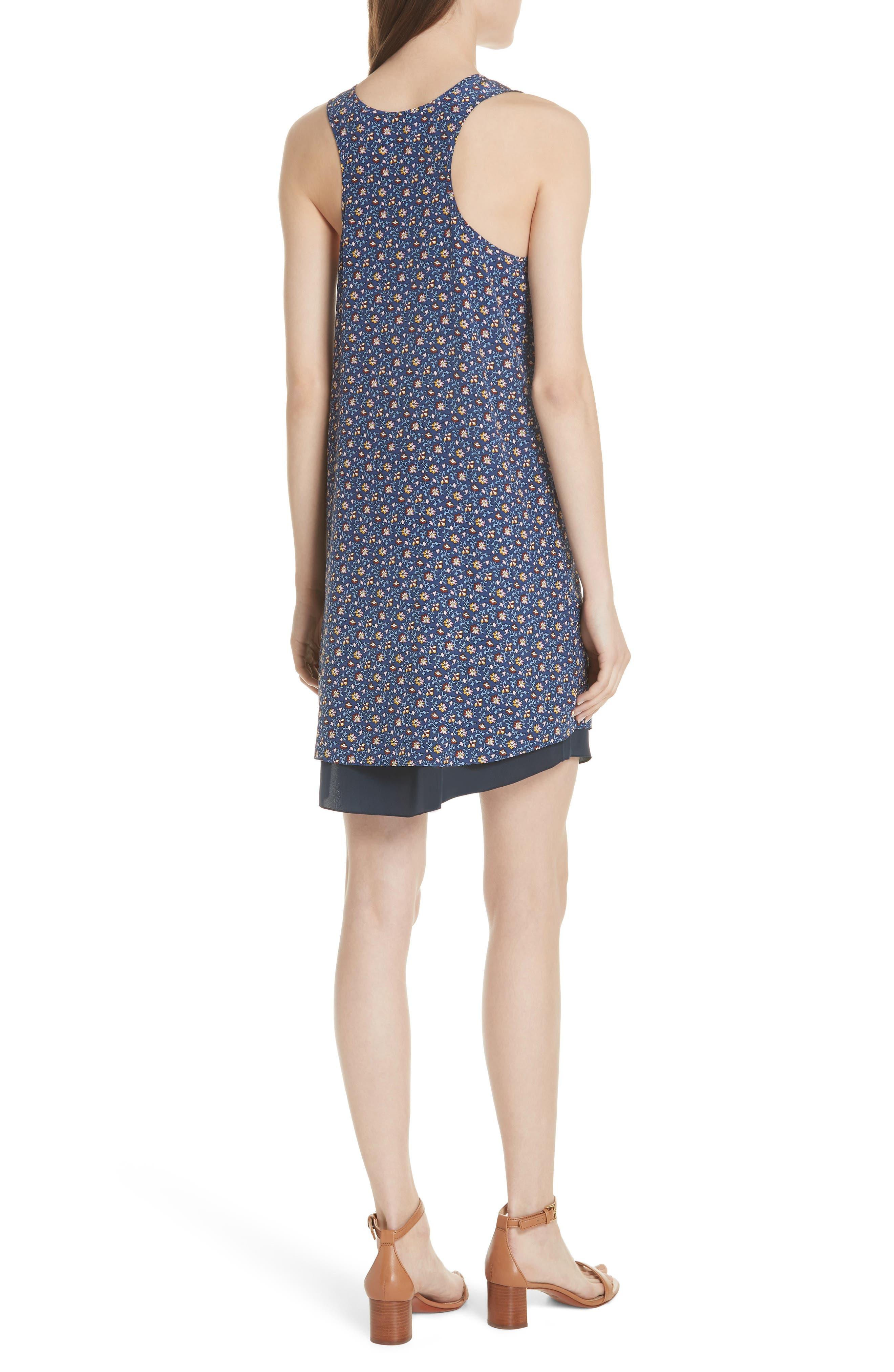 Sydney Sleeveless Silk Dress,                             Alternate thumbnail 2, color,                             491