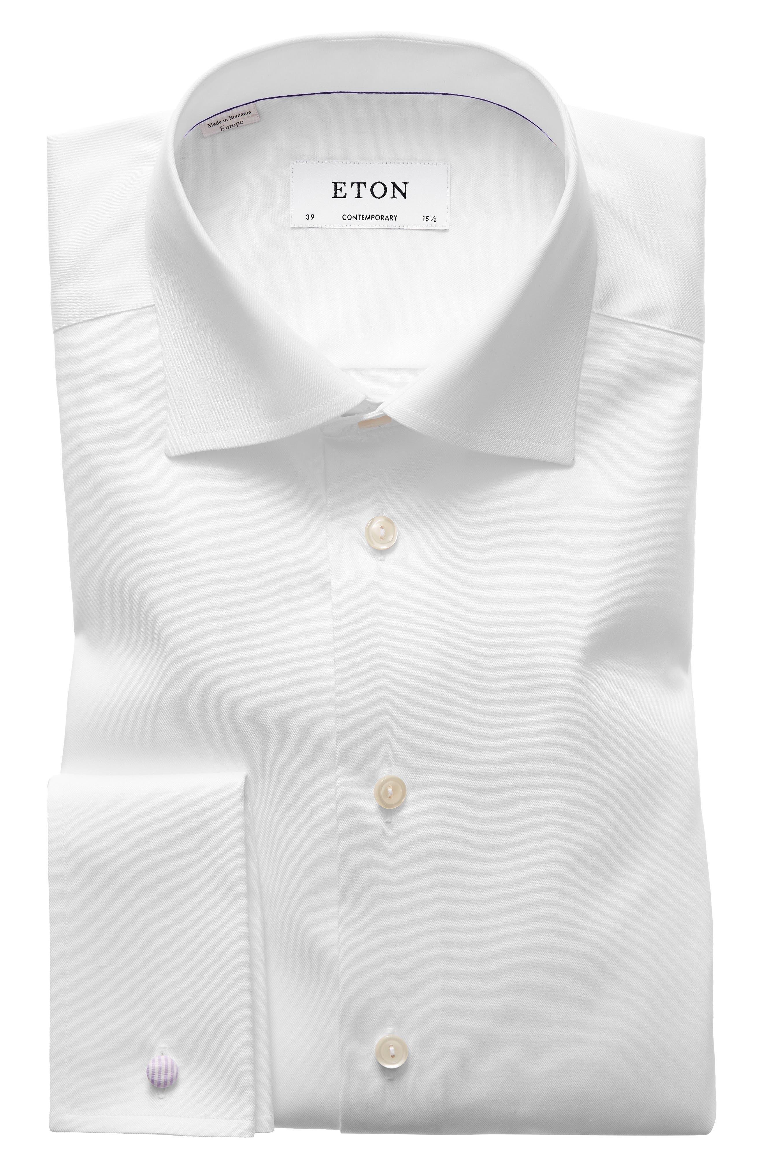 Contemporary Fit Dress Shirt,                             Alternate thumbnail 2, color,                             WHITE