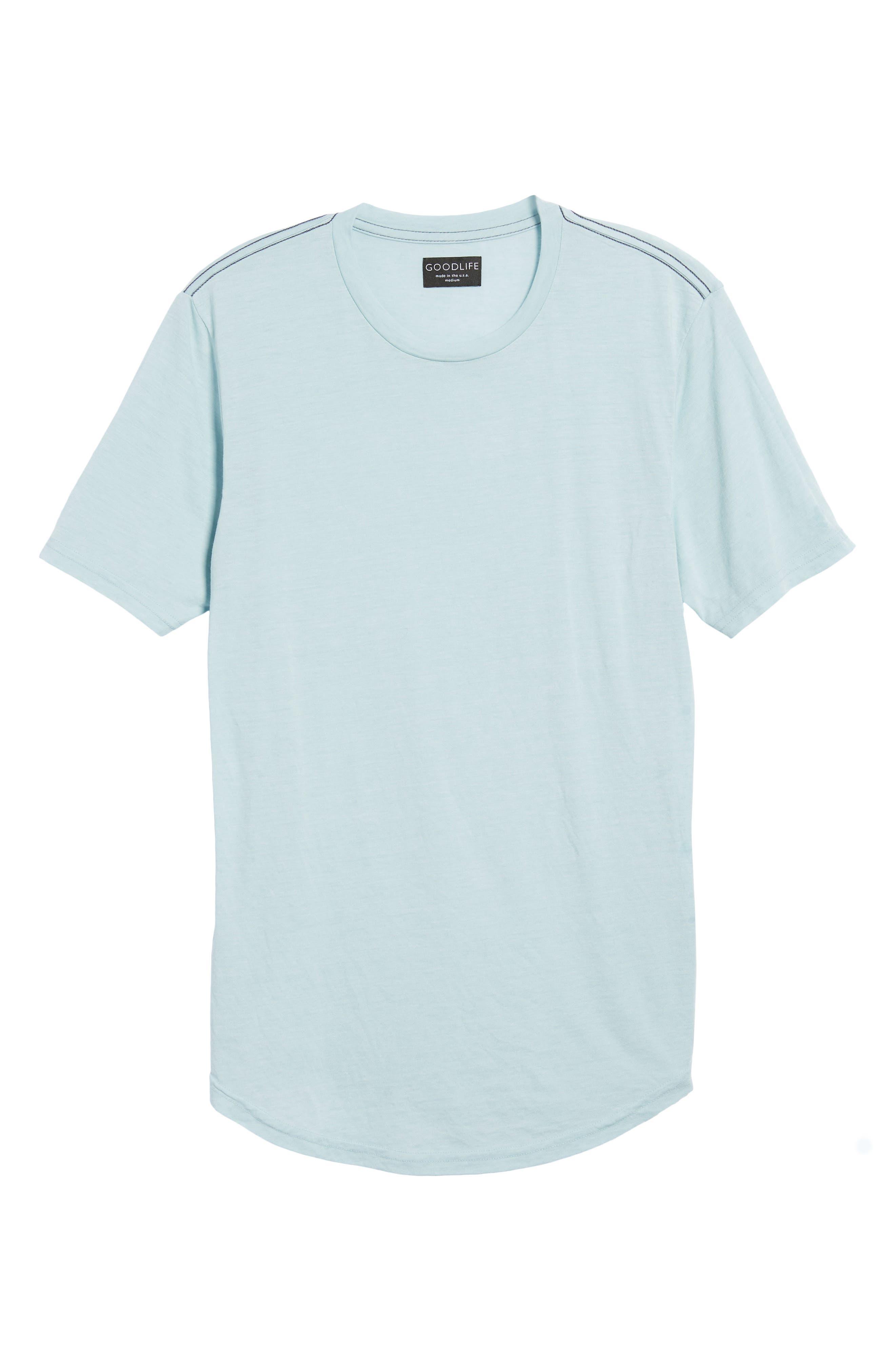 Scallop Triblend Crewneck T-Shirt,                             Alternate thumbnail 123, color,