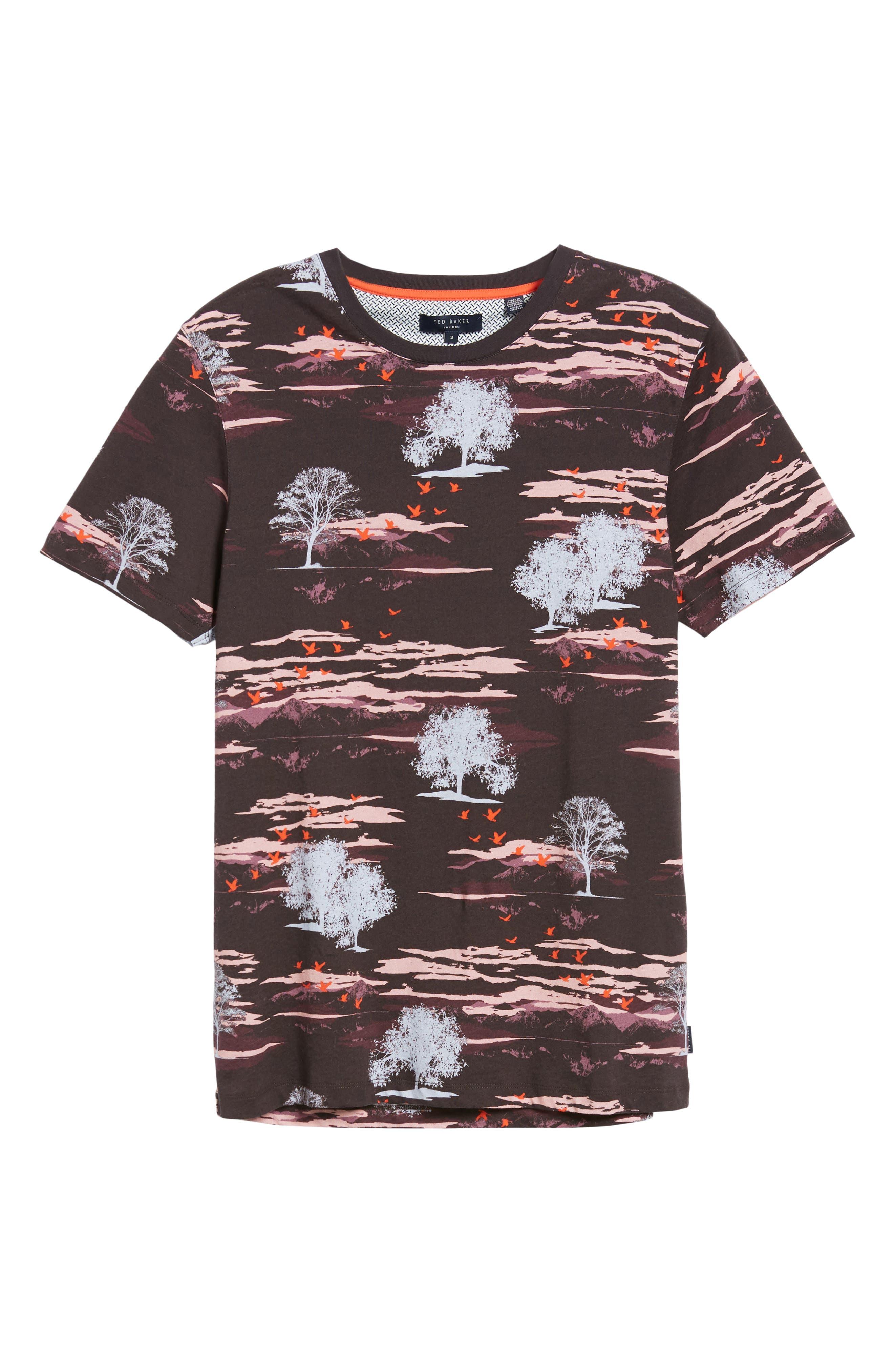 Happie Slim Fit Print T-Shirt,                             Alternate thumbnail 6, color,                             601