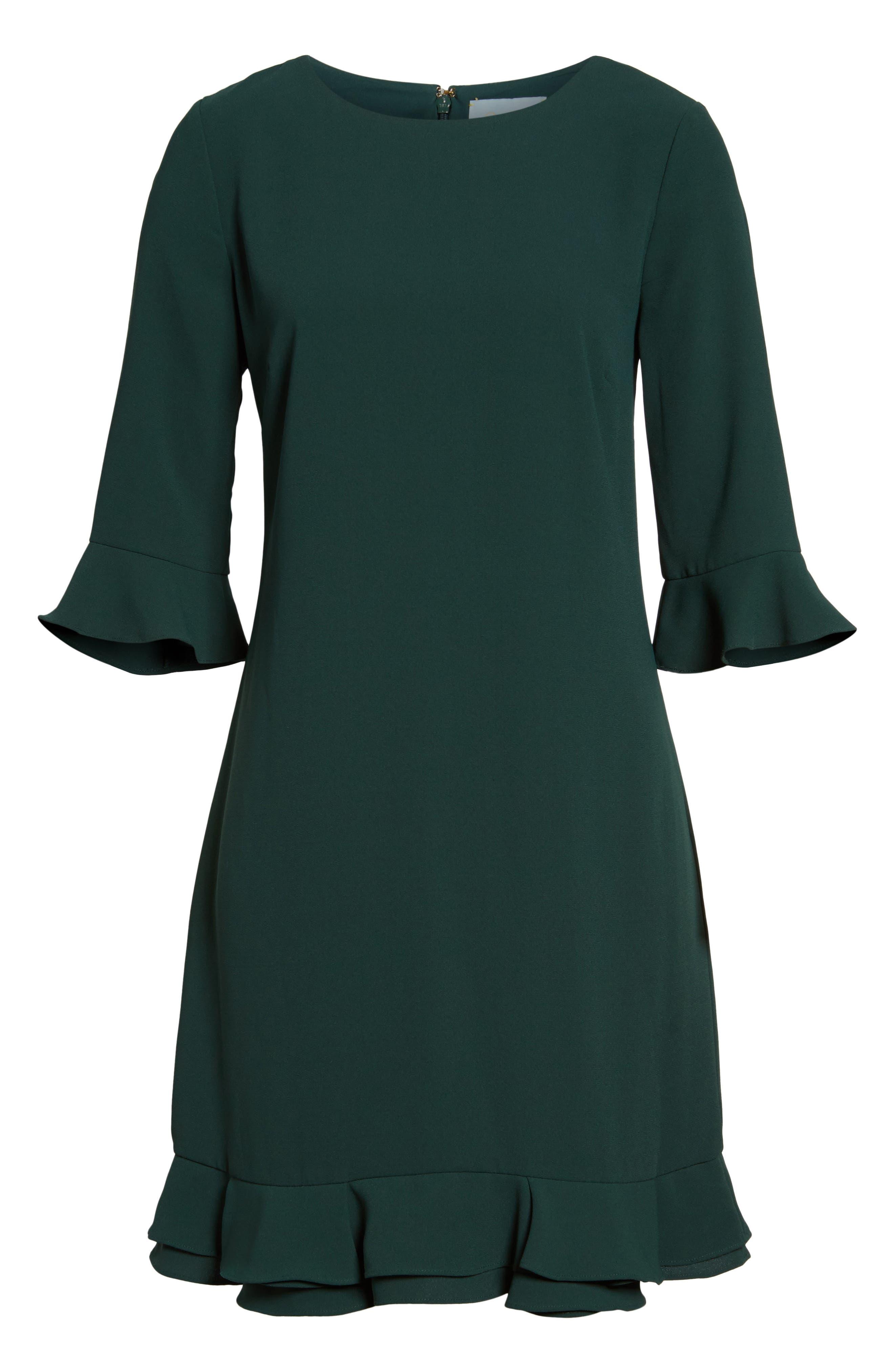 'Kate' Ruffle Hem Shift Dress,                             Alternate thumbnail 13, color,