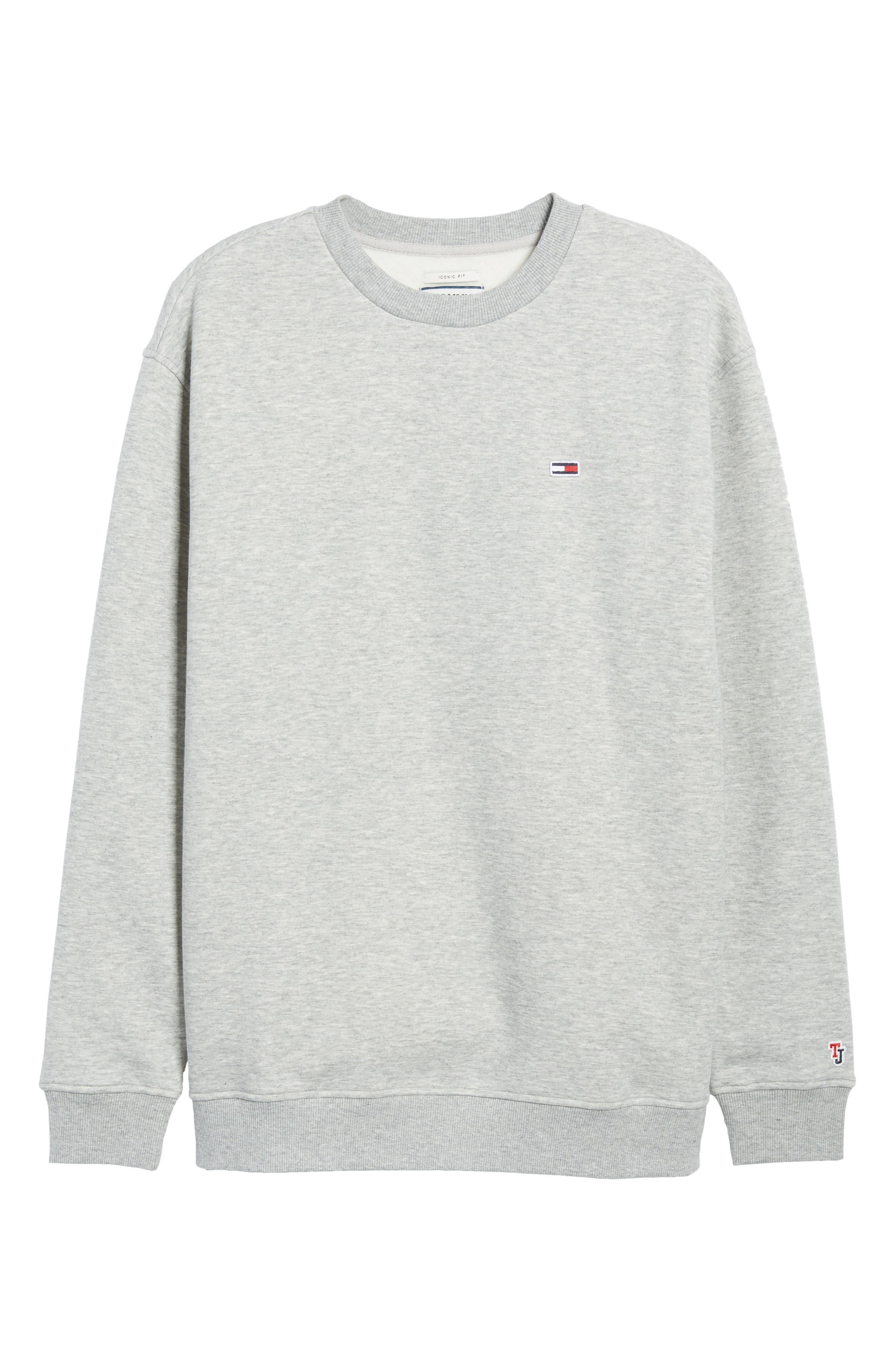 Tommy Classics Crewneck Sweatshirt,                             Alternate thumbnail 6, color,                             LIGHT GREY HEATHER