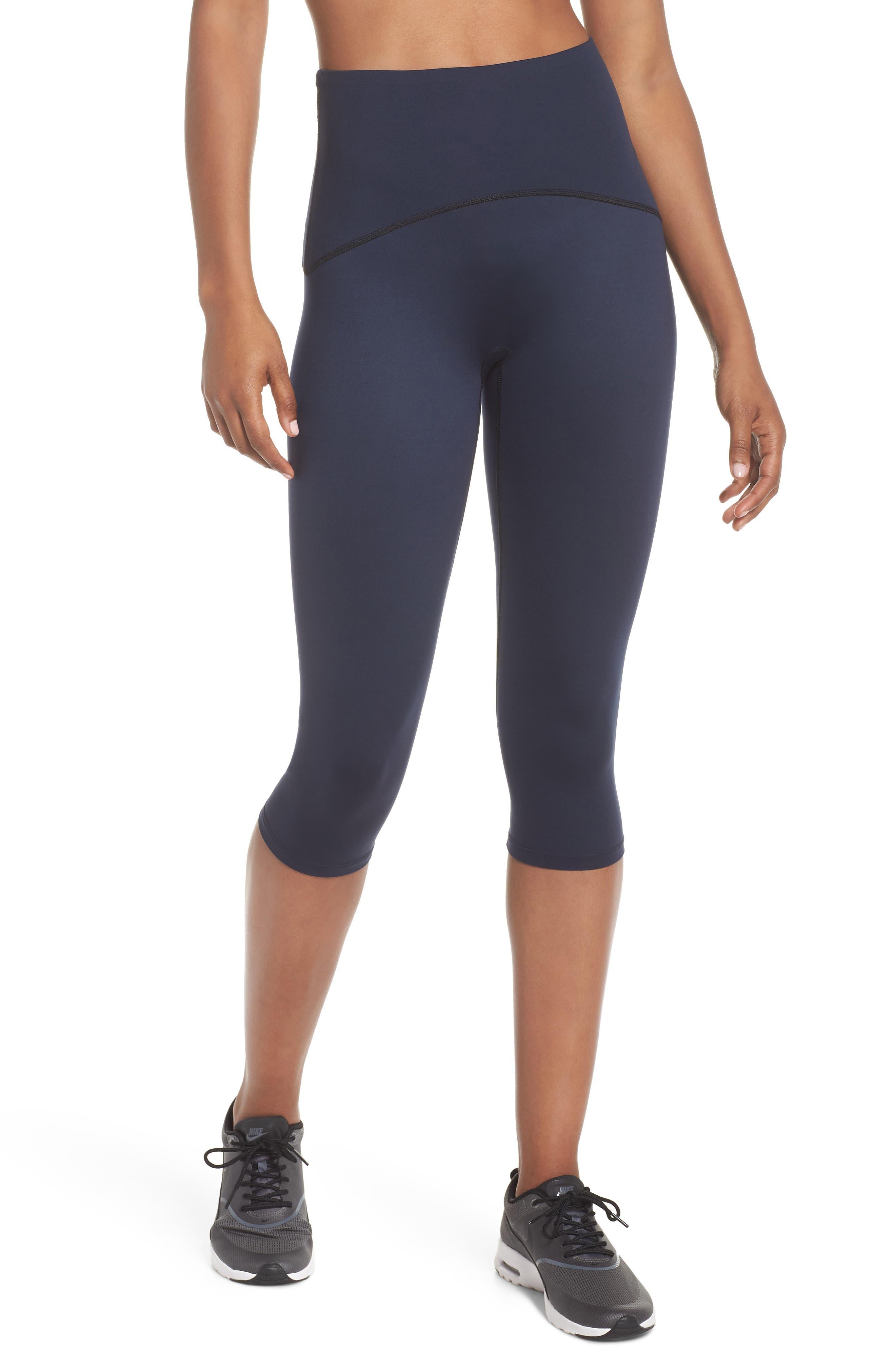 Active Knee-Length Leggings,                             Main thumbnail 1, color,                             LAPIS NIGHT