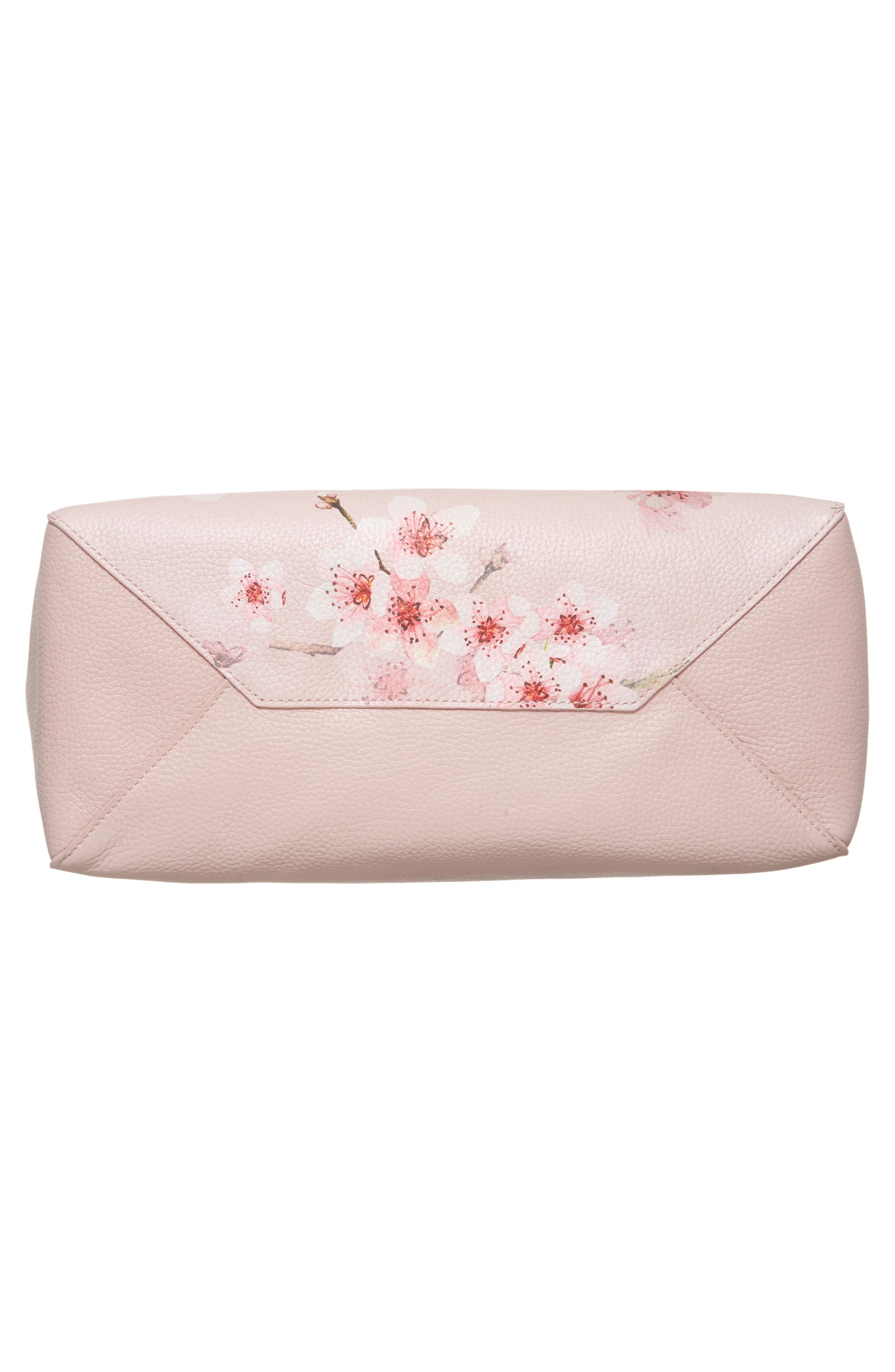 Soft Blossom Leather Shopper,                             Alternate thumbnail 6, color,