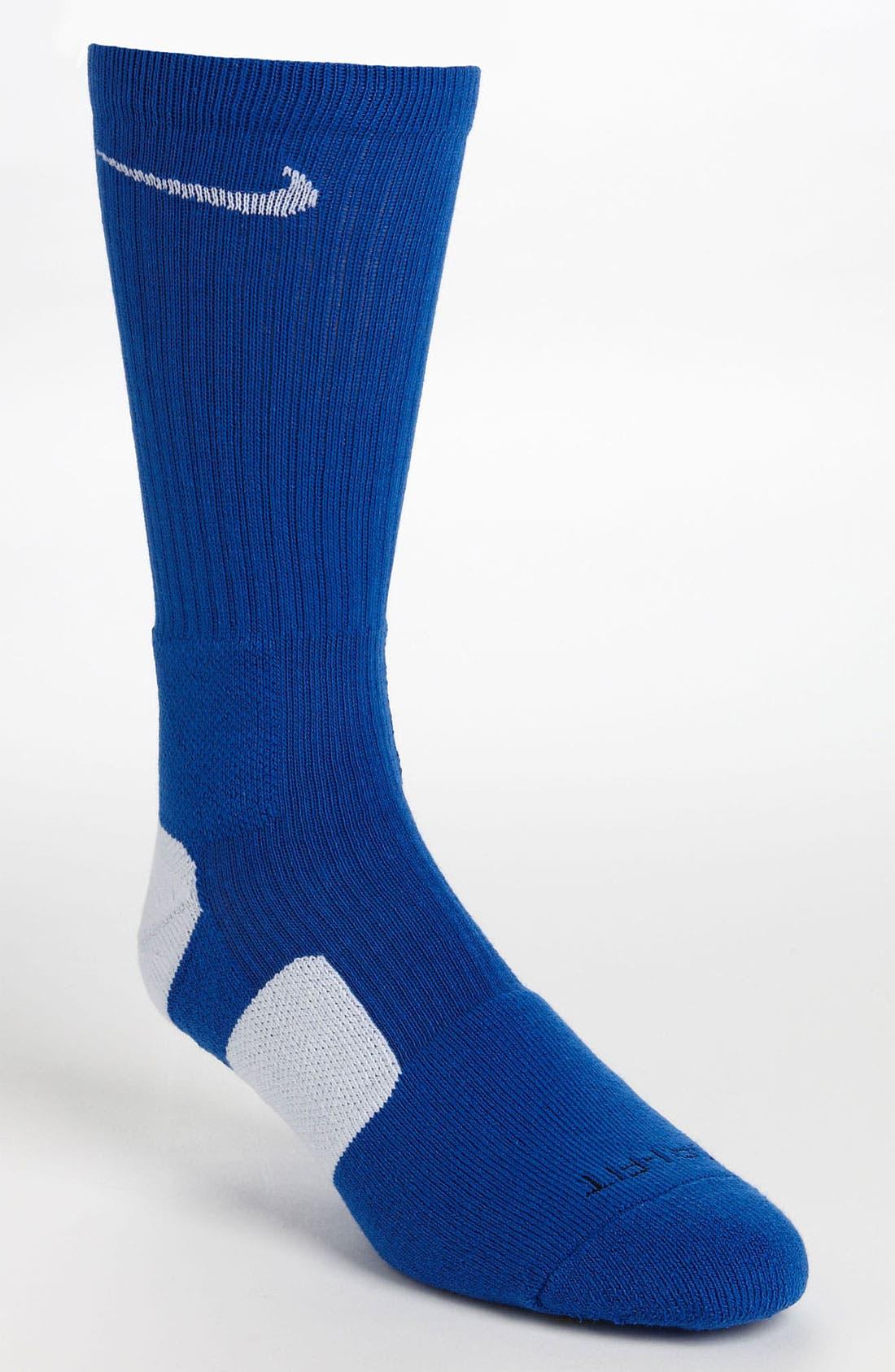 'Elite Basketball' Crew Socks,                             Main thumbnail 28, color,