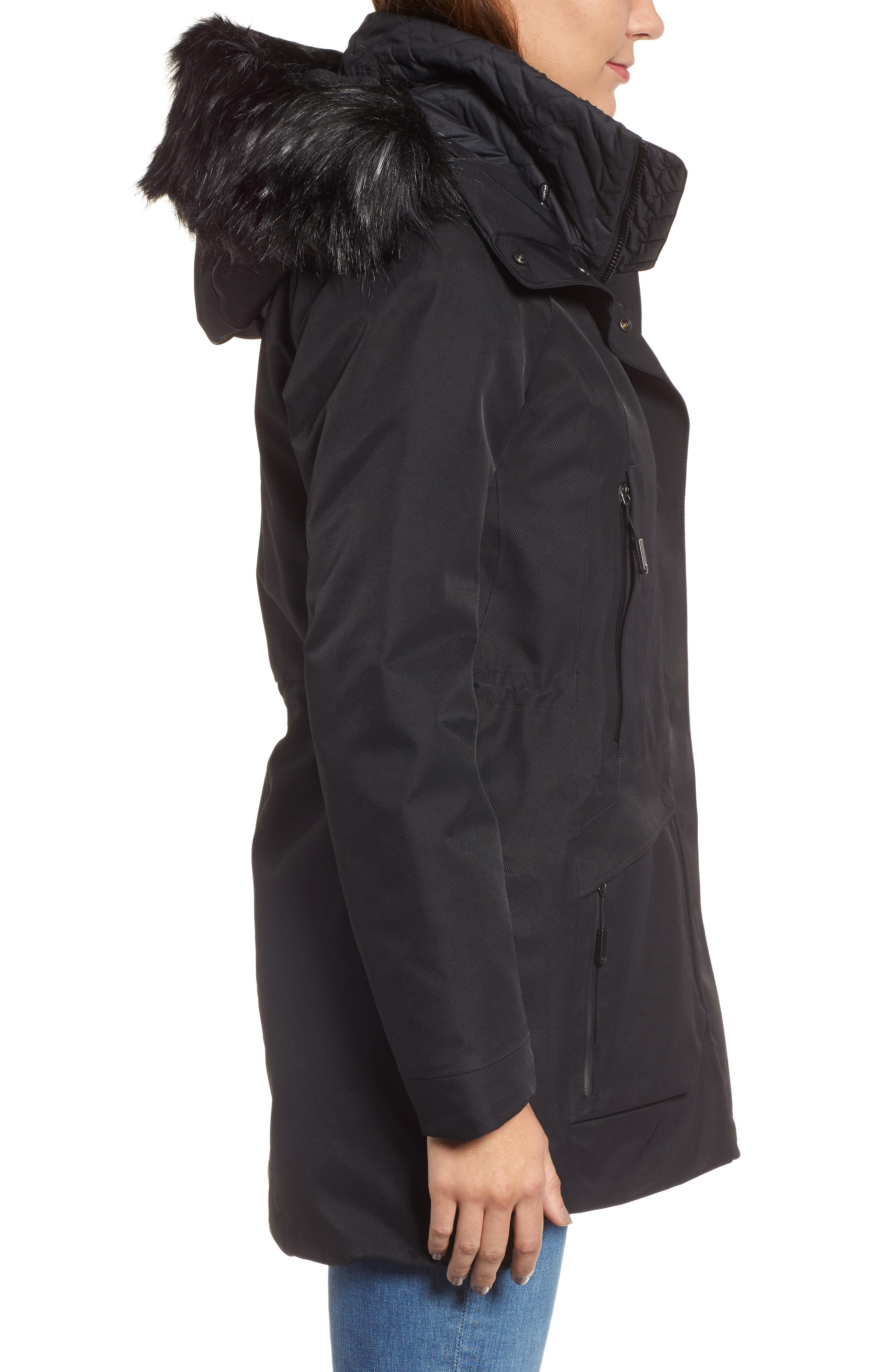 Cryos Gore-Tex<sup>®</sup> Tri-Climate PrimaLoft Gold Insulated Waterproof & Windproof Jacket,                             Alternate thumbnail 3, color,                             001