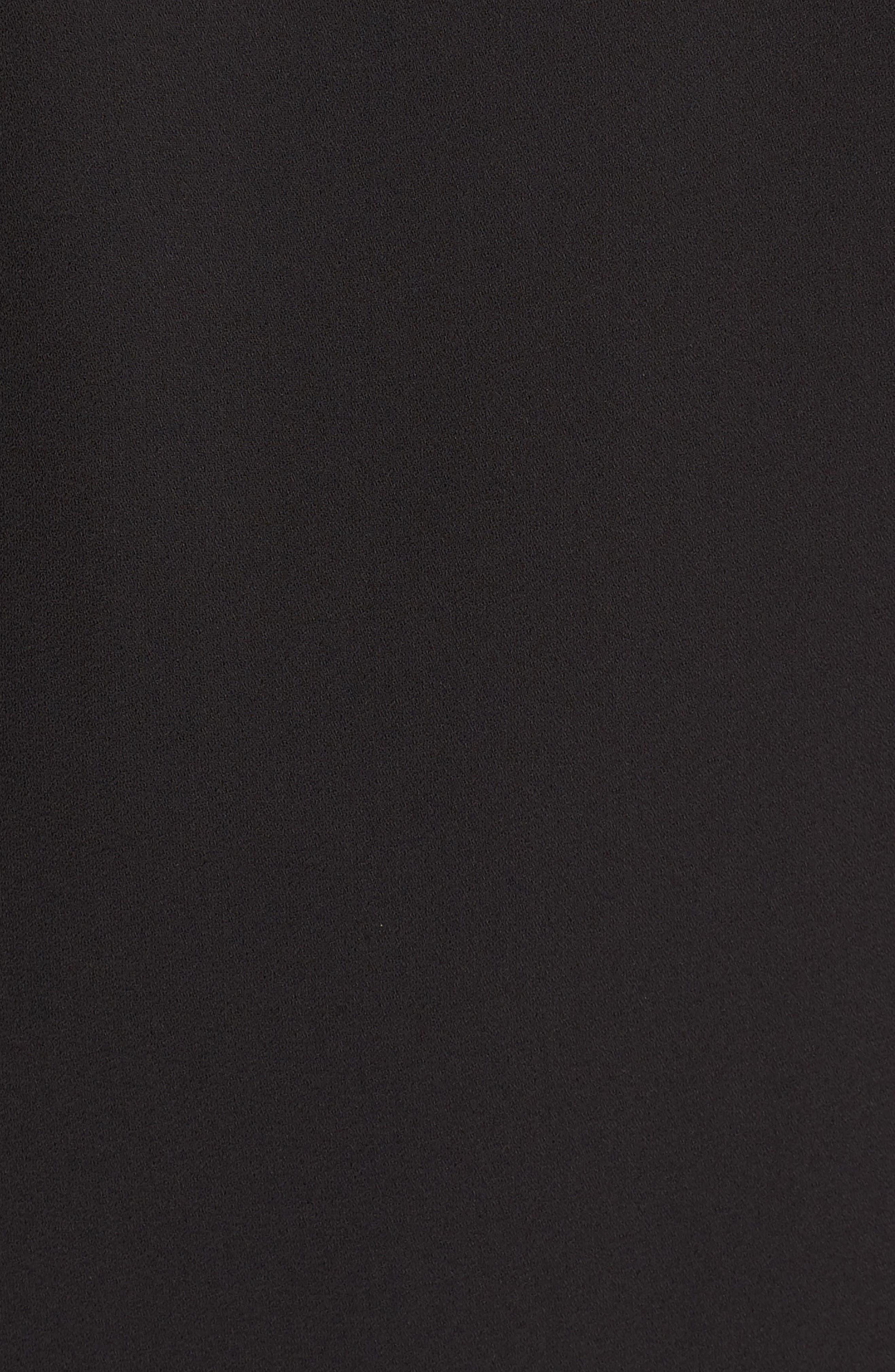 Lace-Up Ruffle Cami,                             Alternate thumbnail 5, color,                             BLACK